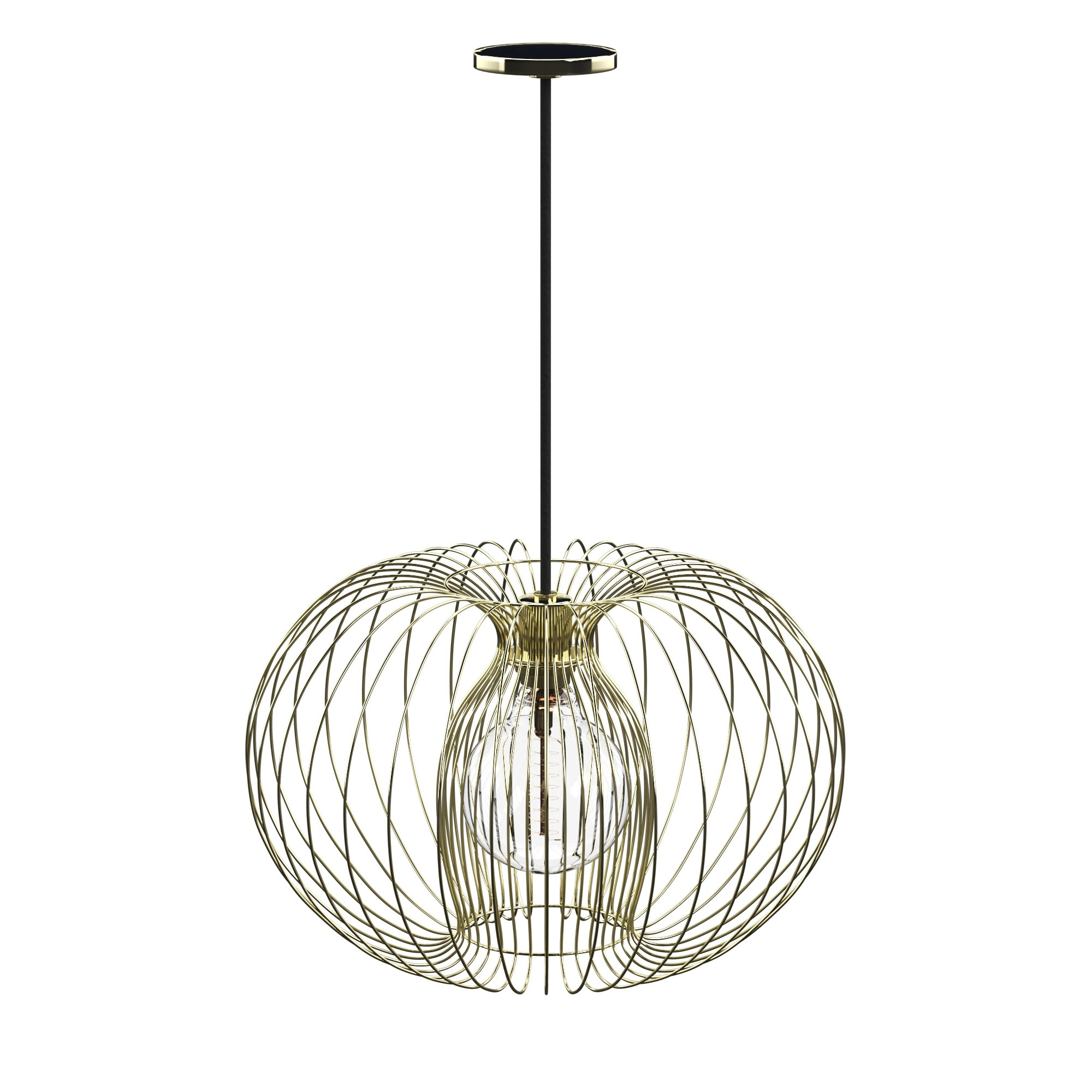 Kass 1-Light Geometric Pendant pertaining to Most Up-to-Date Hydetown 1-Light Single Geometric Pendants