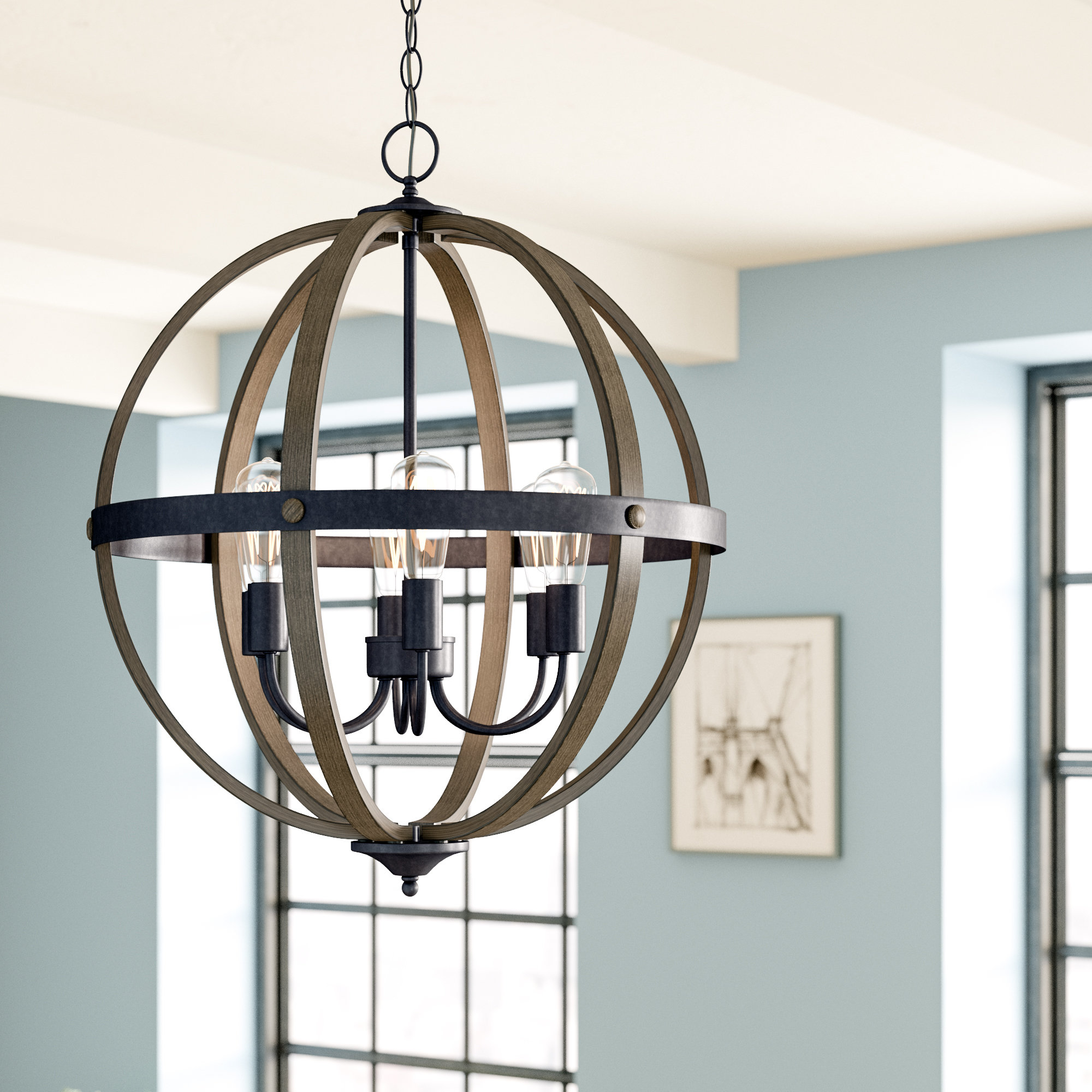 Kathrina 6 Light Globe Chandelier Pertaining To Fashionable Alden 6 Light Globe Chandeliers (Gallery 11 of 25)