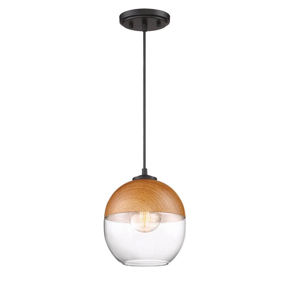 Kawena 1-Light Robusta Wood Style Finish Hanging Pendant throughout Preferred Irwin 1-Light Single Globe Pendants