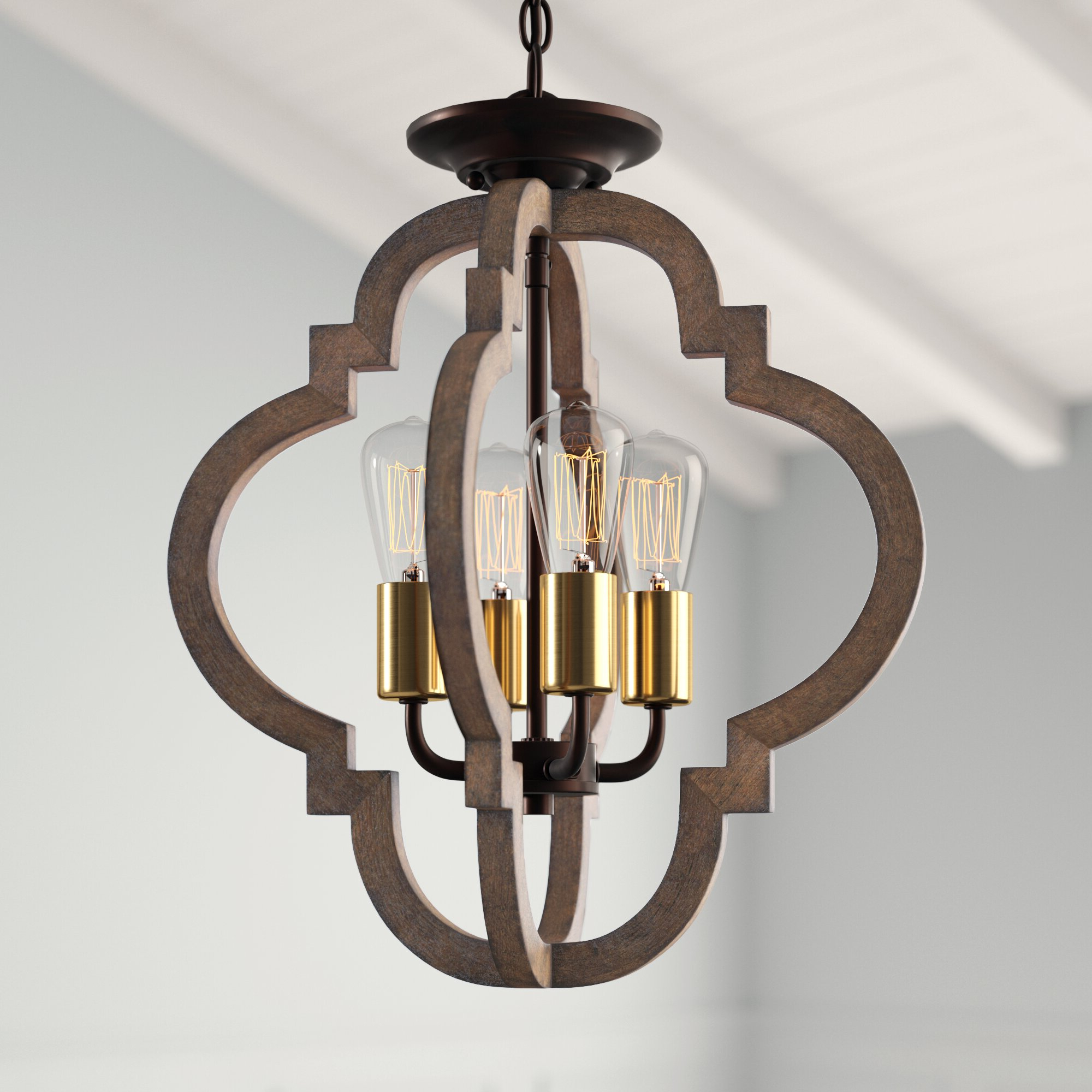 Kaycee 4-Light Geometric Chandelier within Latest Kaycee 4-Light Geometric Chandeliers