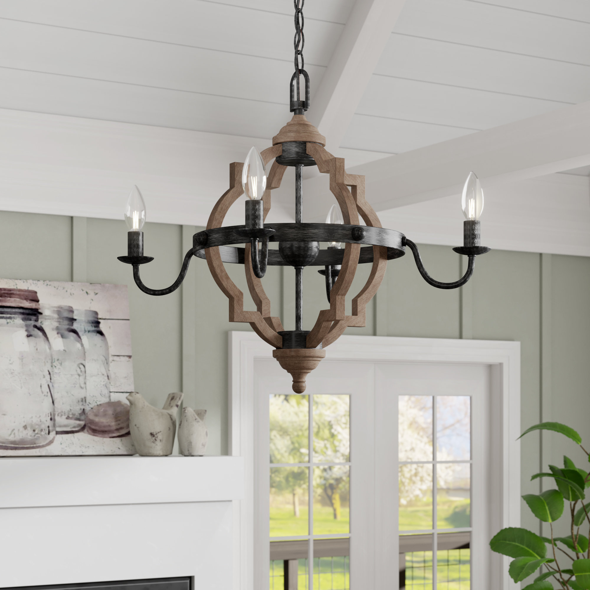 Kaycee 4 Light Geometric Chandeliers In Most Popular Laurel Foundry Modern Farmhouse Donna 4 Light Candle Style (View 13 of 25)