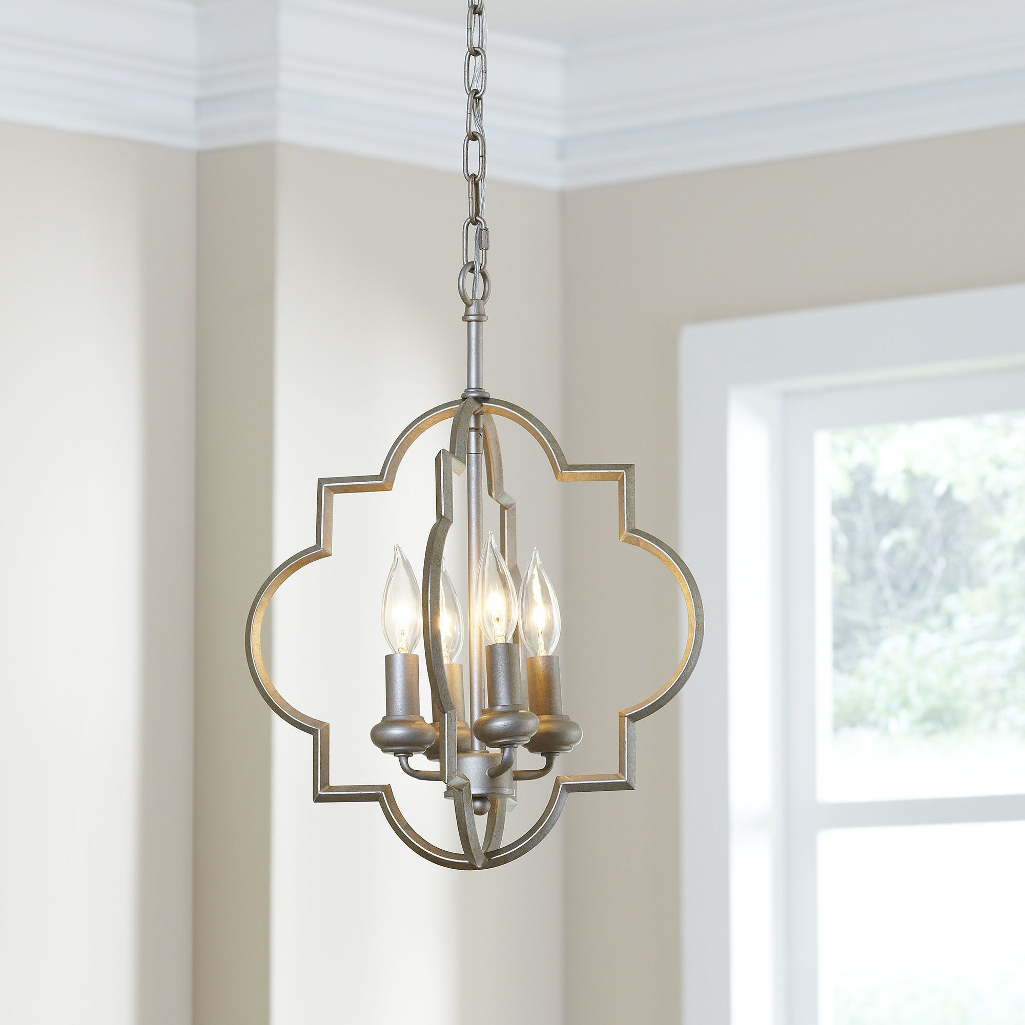 Kaycee 4 Light Geometric Chandeliers Regarding Well Known Hartley 4 Light Geometric Pendant (View 23 of 25)