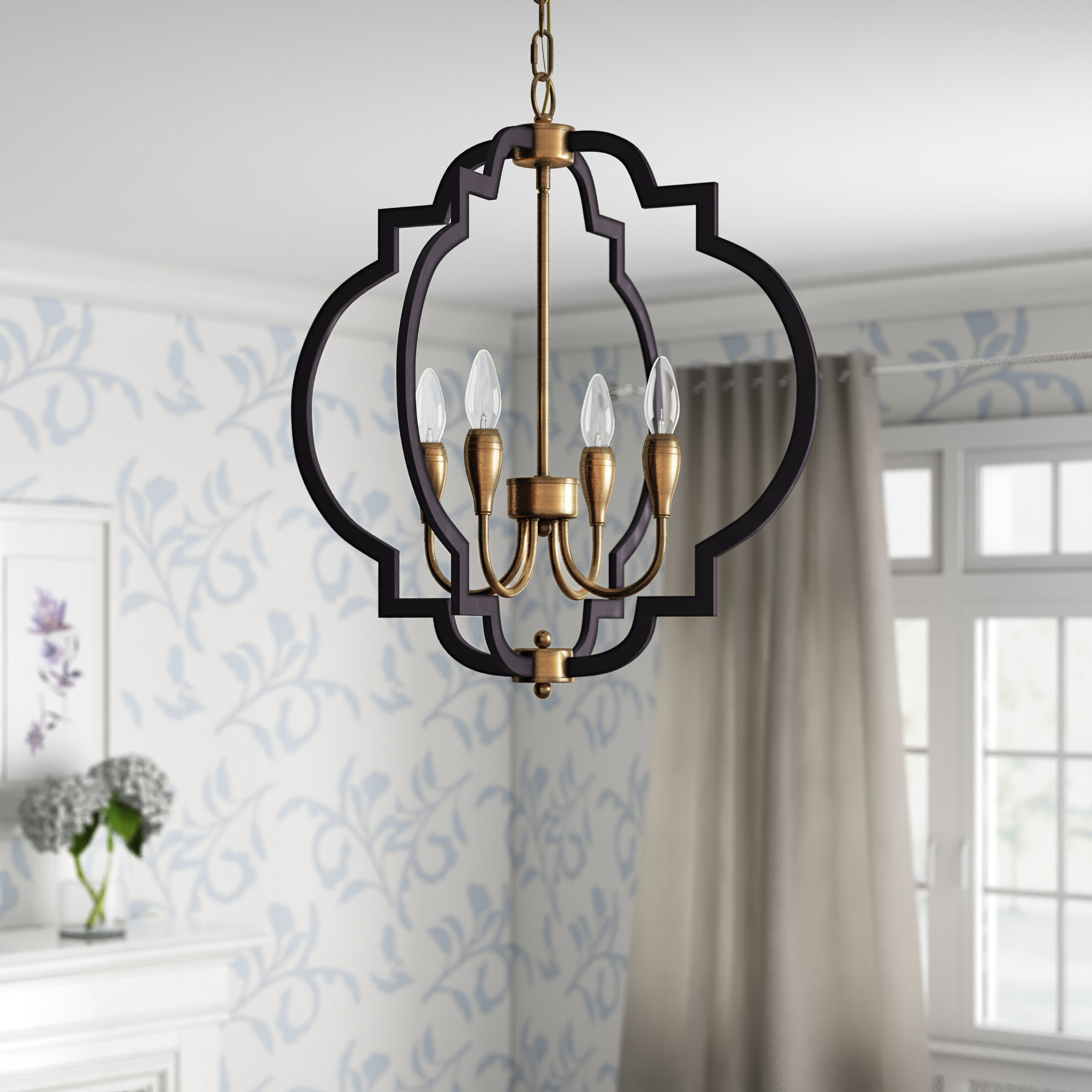 Kaycee 4 Light Geometric Chandeliers With Regard To Favorite Astin 4 Light Geometric Chandelier (View 3 of 25)