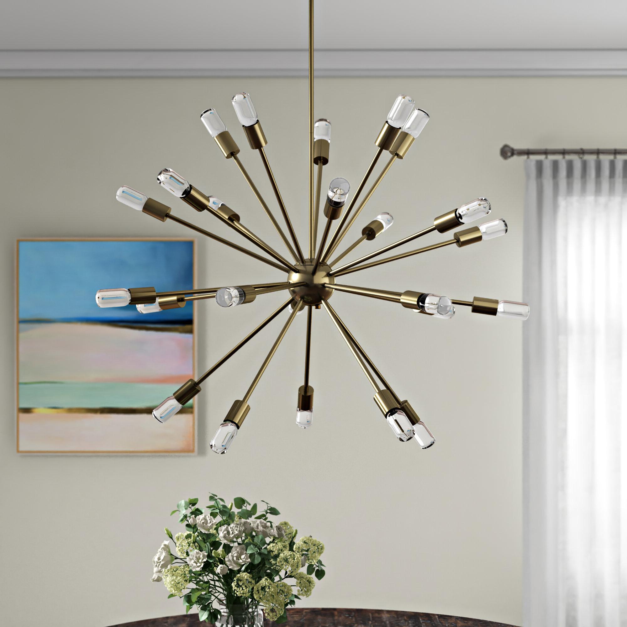 Kendall 24-Light Chandelier for Most Popular Bacchus 12-Light Sputnik Chandeliers
