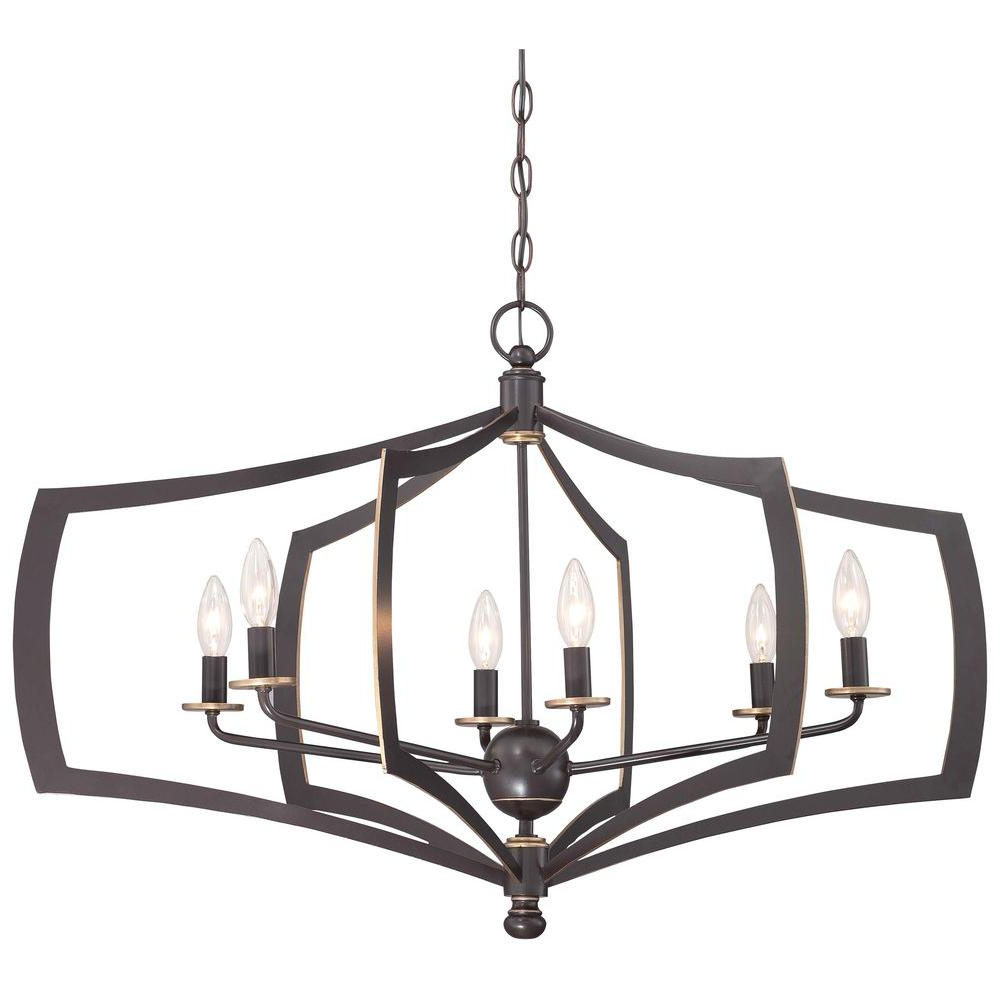 Kenedy 9-Light Candle Style Chandeliers throughout Well known Minka Lavery Middletown 6-Light Downtown Bronze Chandelier