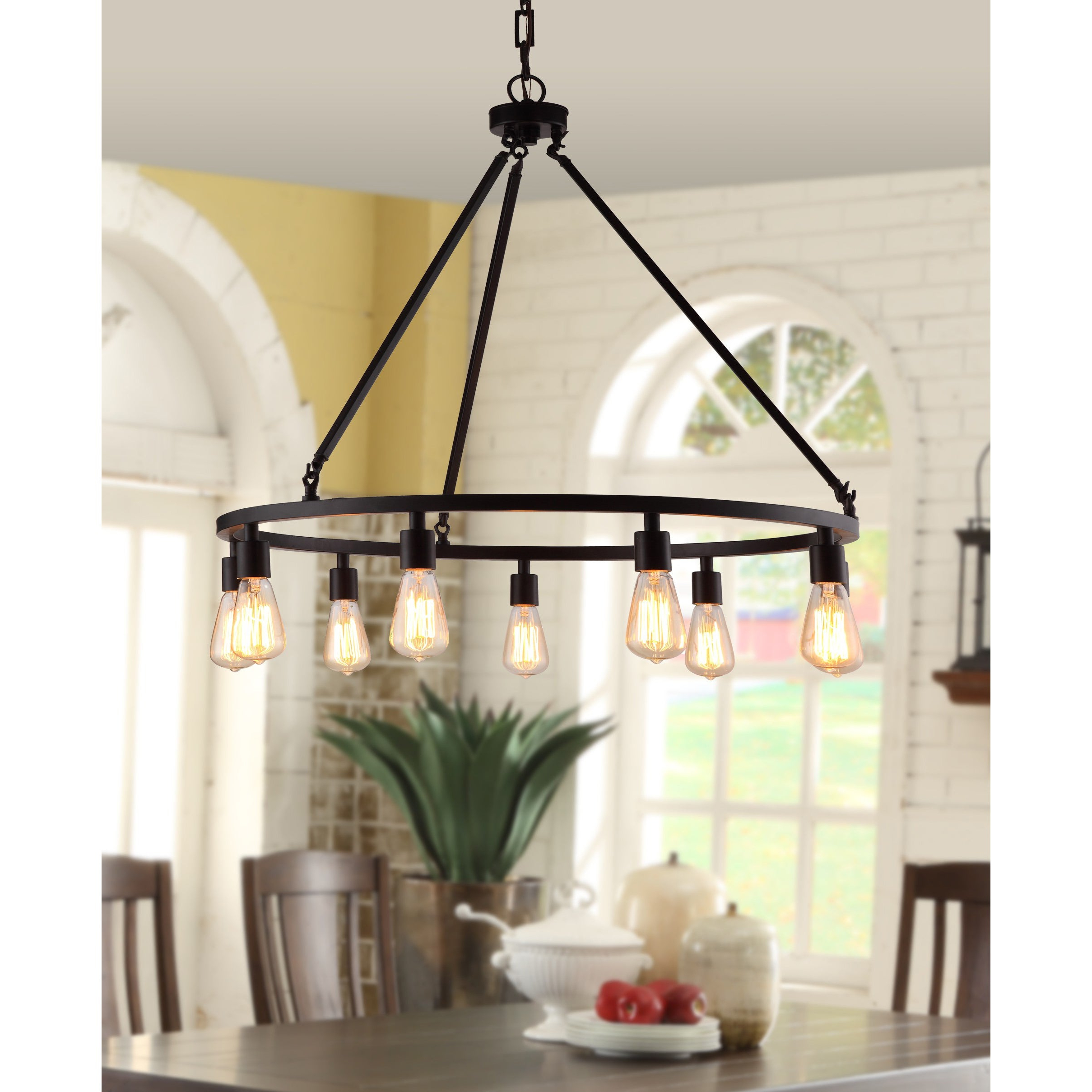 Kenedy 9 Light Candle Style Chandeliers With Regard To Preferred Metal, Farmhouse Ceiling Lighting (View 25 of 25)