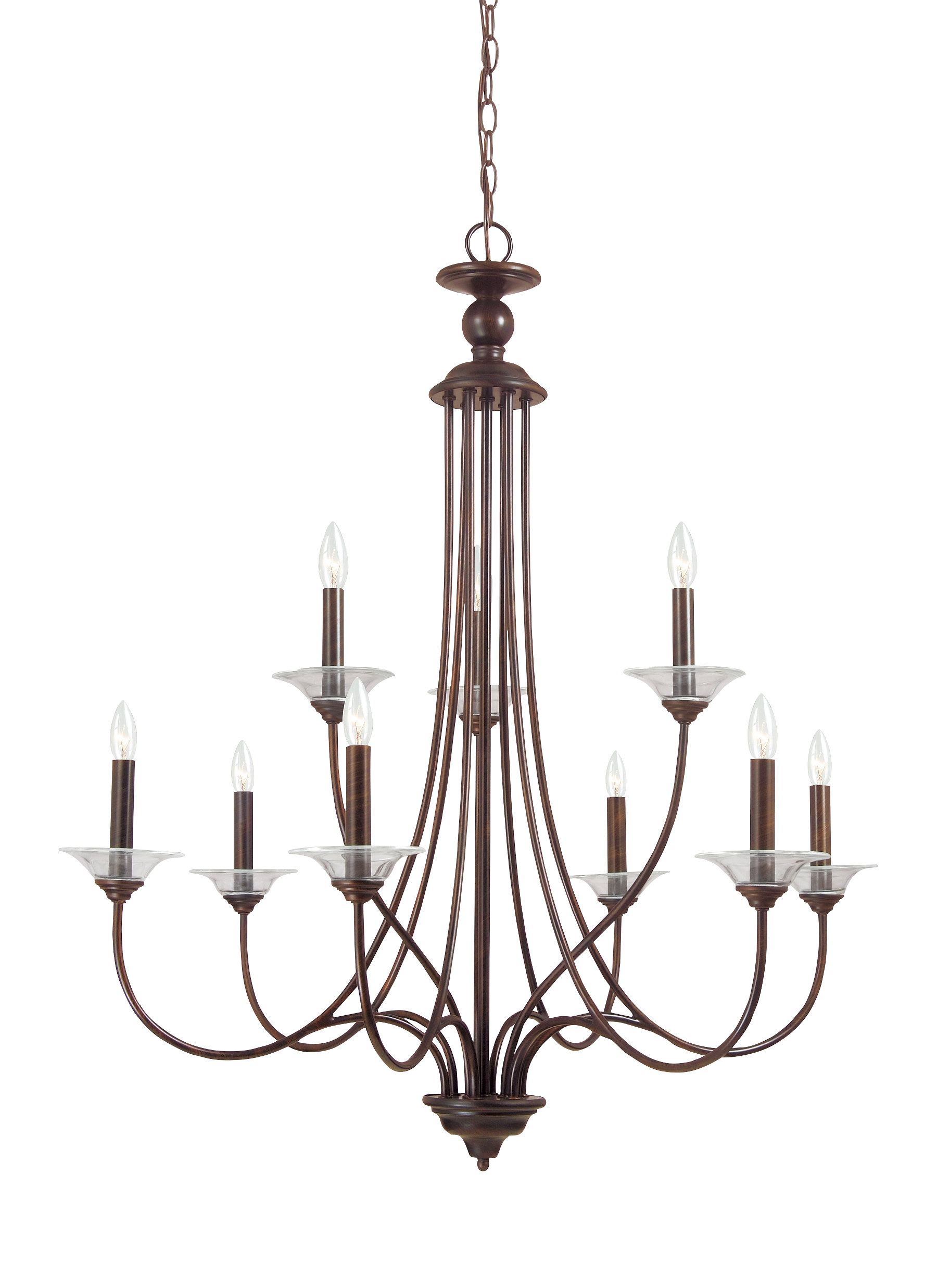 Kenedy 9 Light Candle Style Chandeliers Within Newest Barbro 9 Light Chandelier (Gallery 5 of 25)