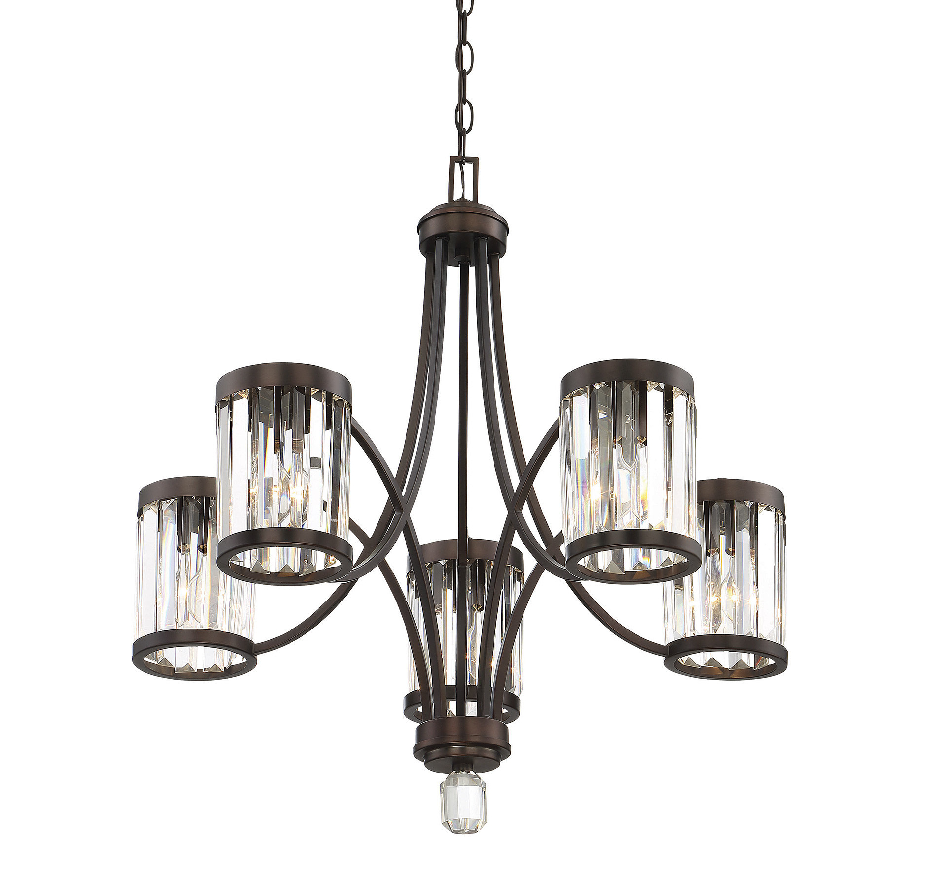 Kenna 5 Light Empire Chandeliers With Regard To Recent Caesar 5 Light Shaded Chandelier (View 16 of 25)