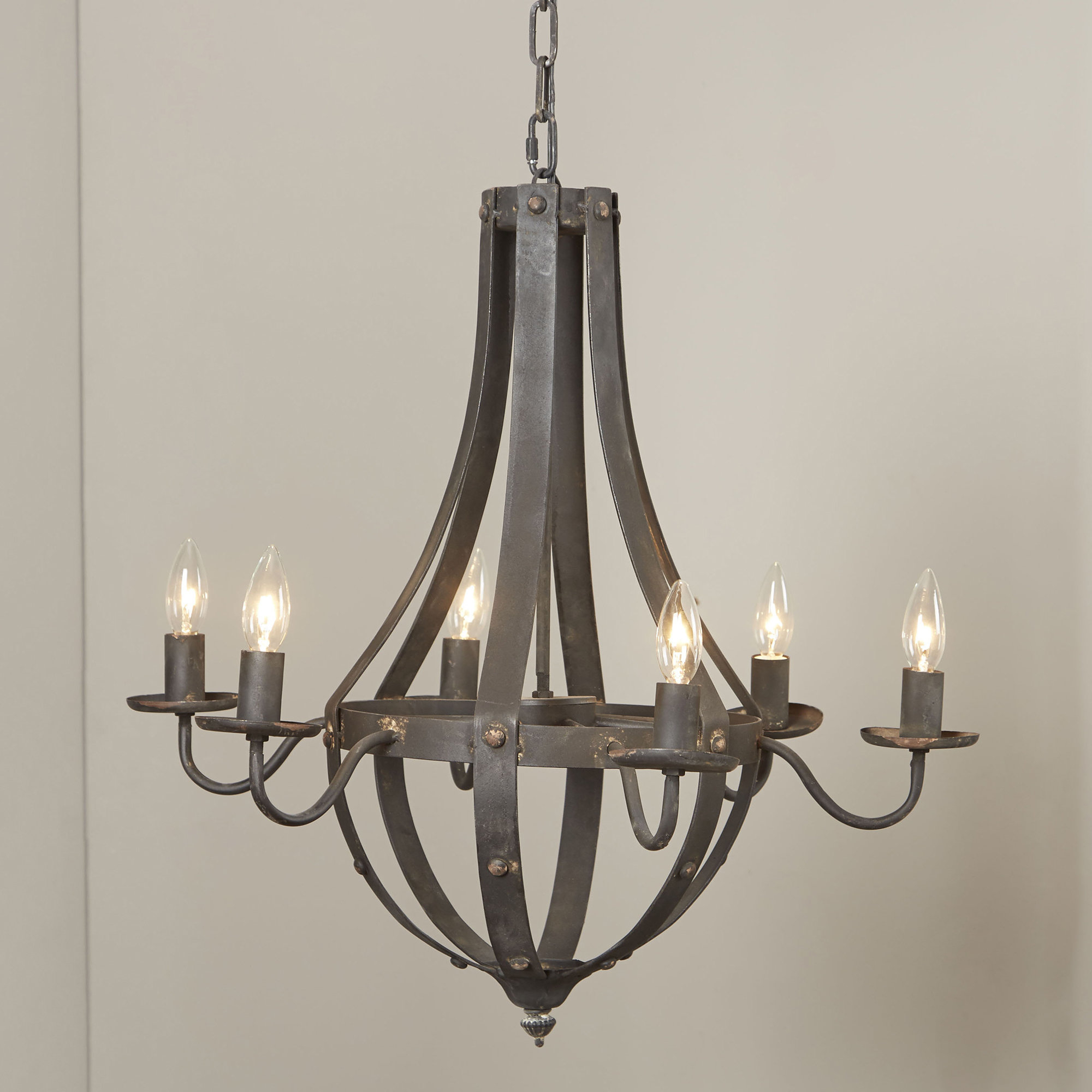 Kenna 5-Light Empire Chandeliers within 2019 Foulds 6-Light Empire Chandelier
