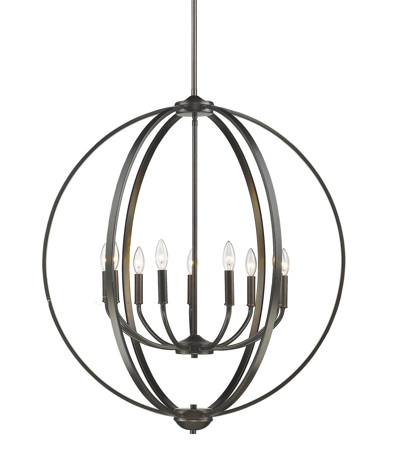 Kierra 4 Light Unique / Statement Chandeliers In Recent Earlene 9 Light Globe Chandelier (Gallery 6 of 25)