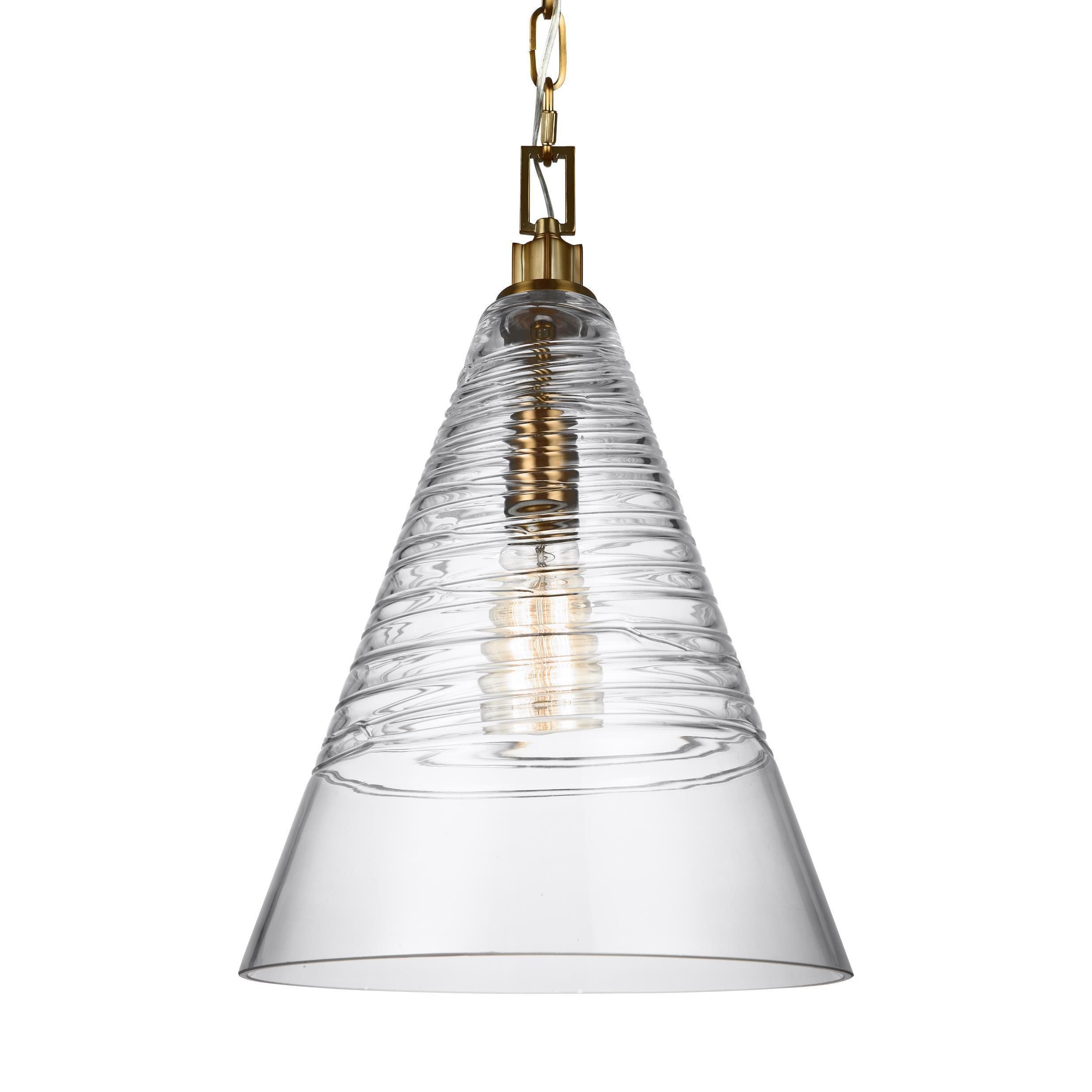 Kilby 1 Light Pendants Intended For Favorite Feiss Elmore 1 Light Burnished Brass Pendant (1 – Light (Gallery 23 of 25)