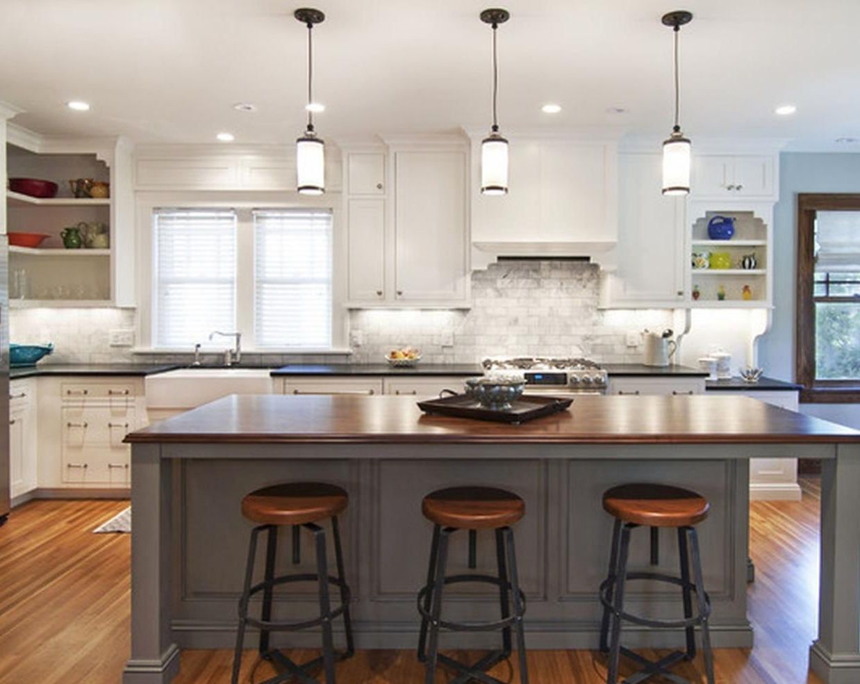 Kitchen Island Lighting with Current Gracelyn 8-Light Kitchen Island Pendants