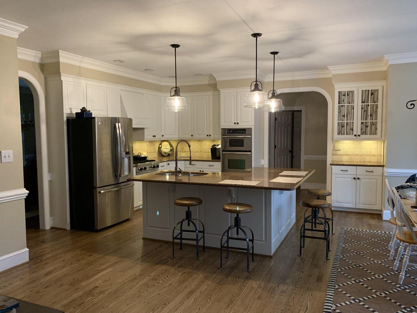 Kitchen within Nadine 1-Light Single Schoolhouse Pendants