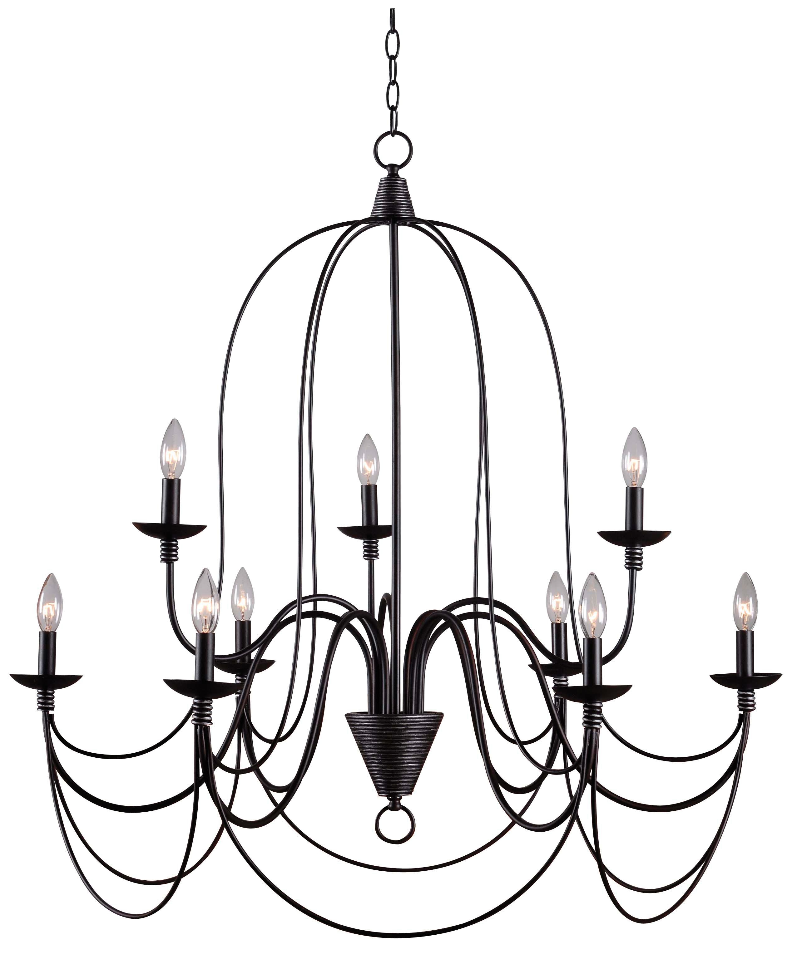 Kollman 9 Light Candle Style Chandelier In Latest Giverny 9 Light Candle Style Chandeliers (View 14 of 25)