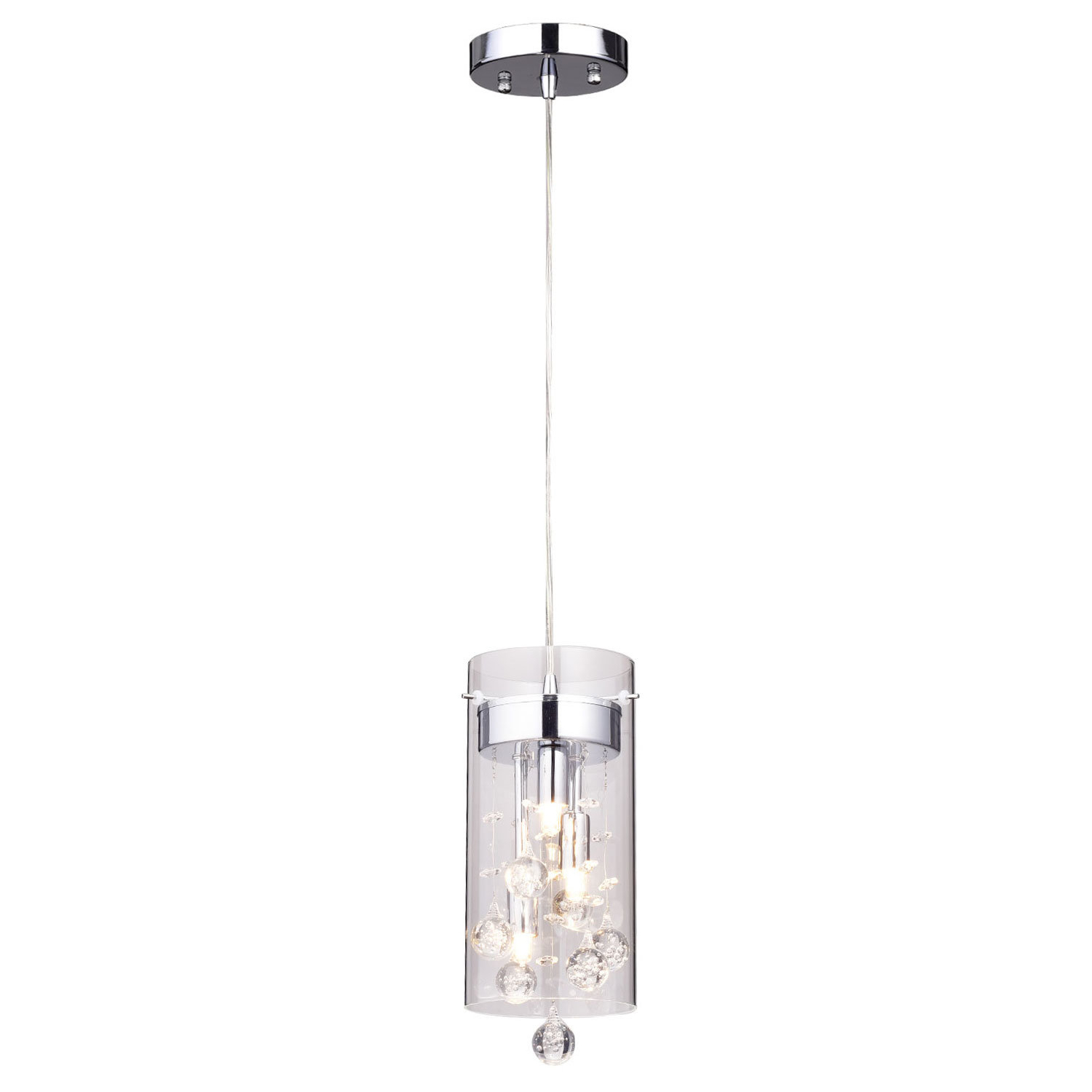 """Kraker 1 Light Single Cylinder Pendants Intended For Newest Crystal Mini (Less Than 10"""" Wide) Pendant Lighting You'll (View 8 of 25)"""
