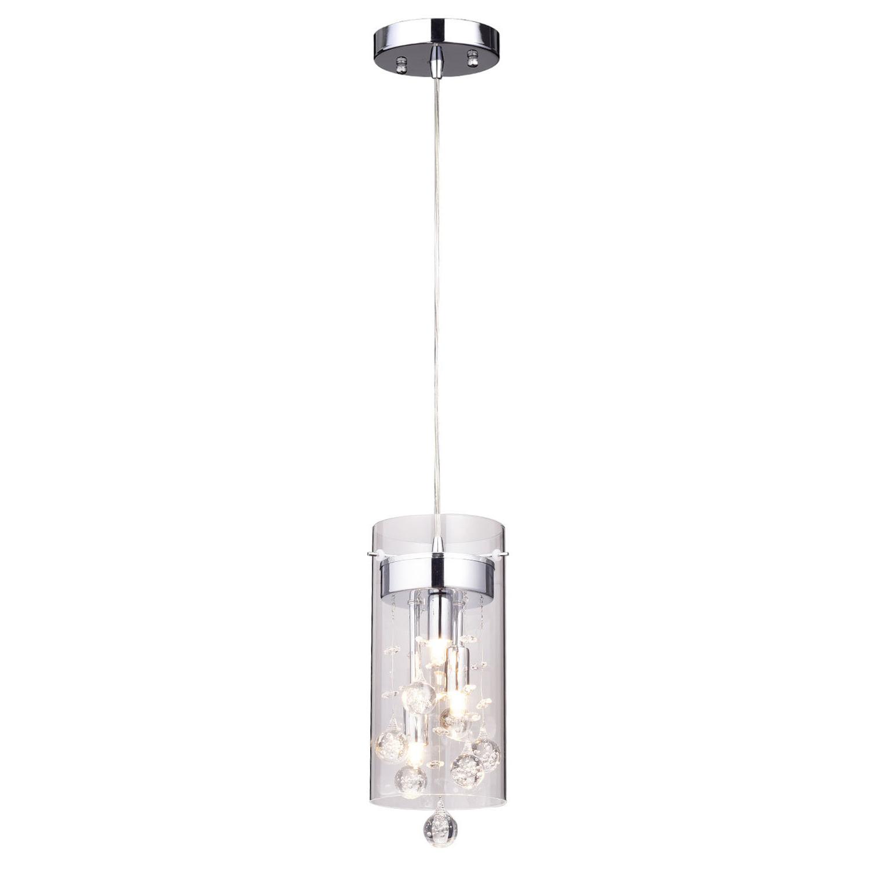 "Kraker 1-Light Single Cylinder Pendants intended for Newest Crystal Mini (Less Than 10"" Wide) Pendant Lighting You'll"