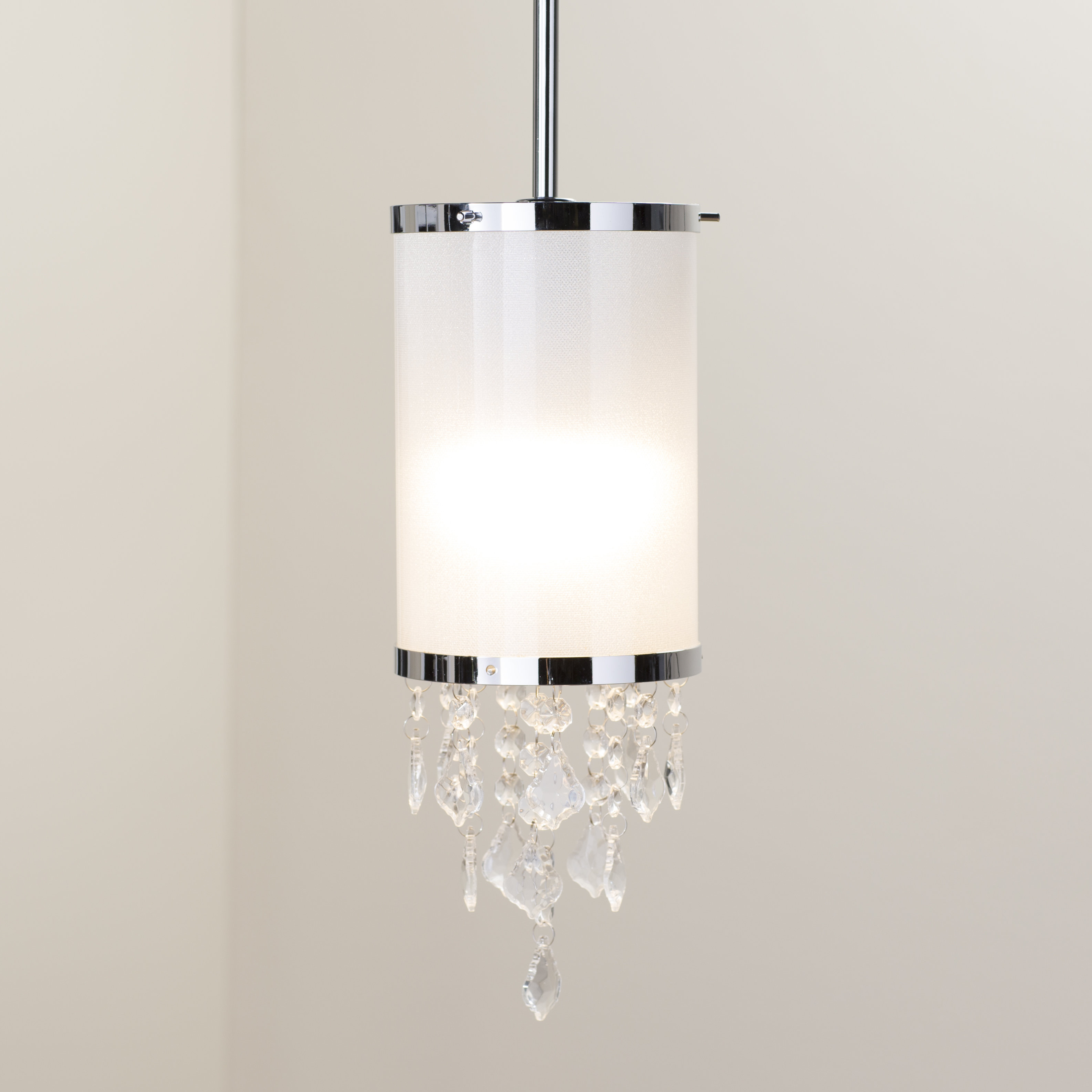 """Kraker 1-Light Single Cylinder Pendants intended for Well-liked Crystal Mini (Less Than 10"""" Wide) Pendant Lighting You'll"""