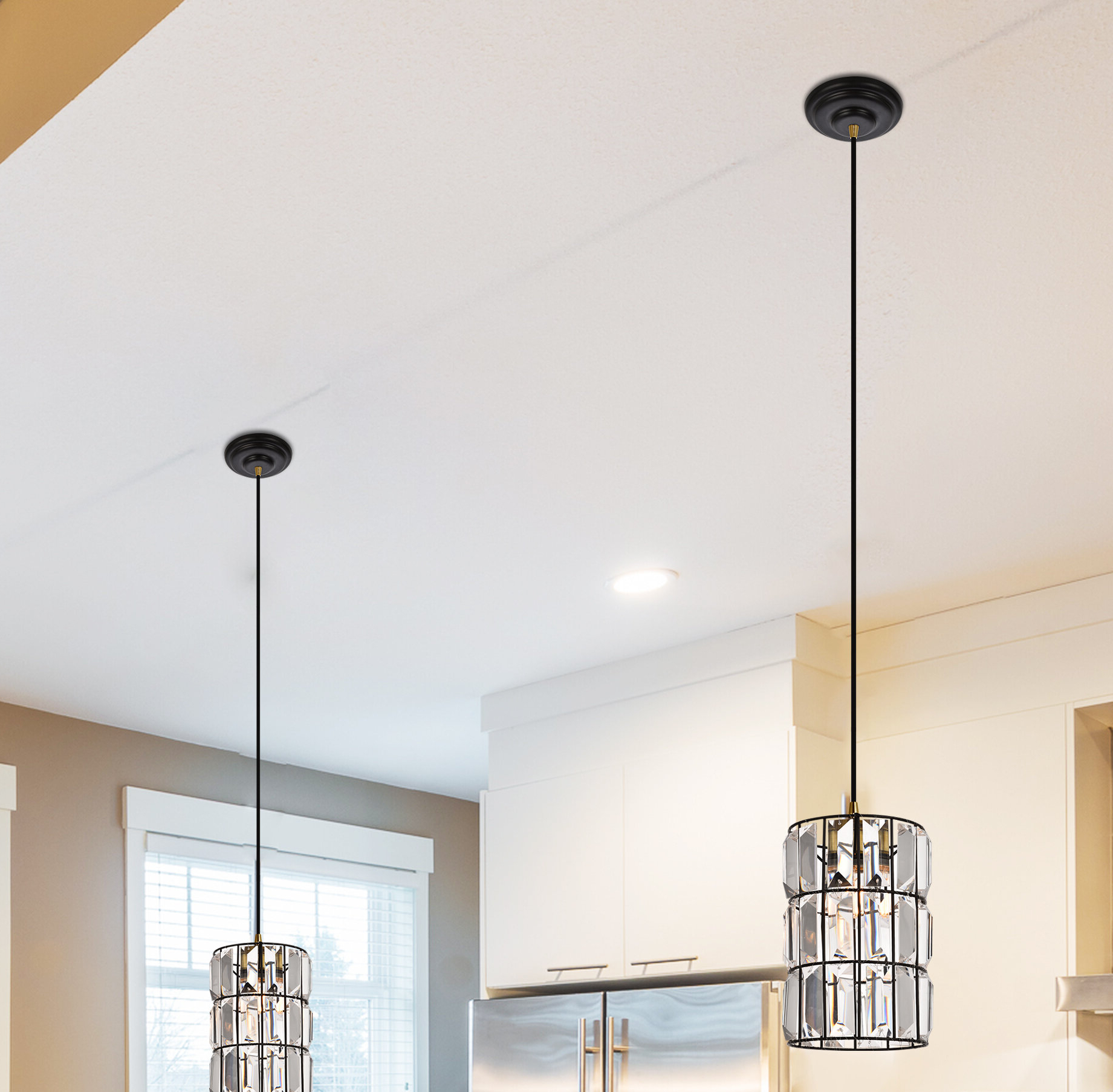 Kraker 1-Light Single Cylinder Pendants with regard to Recent Colston 1-Light Single Cylinder Pendant