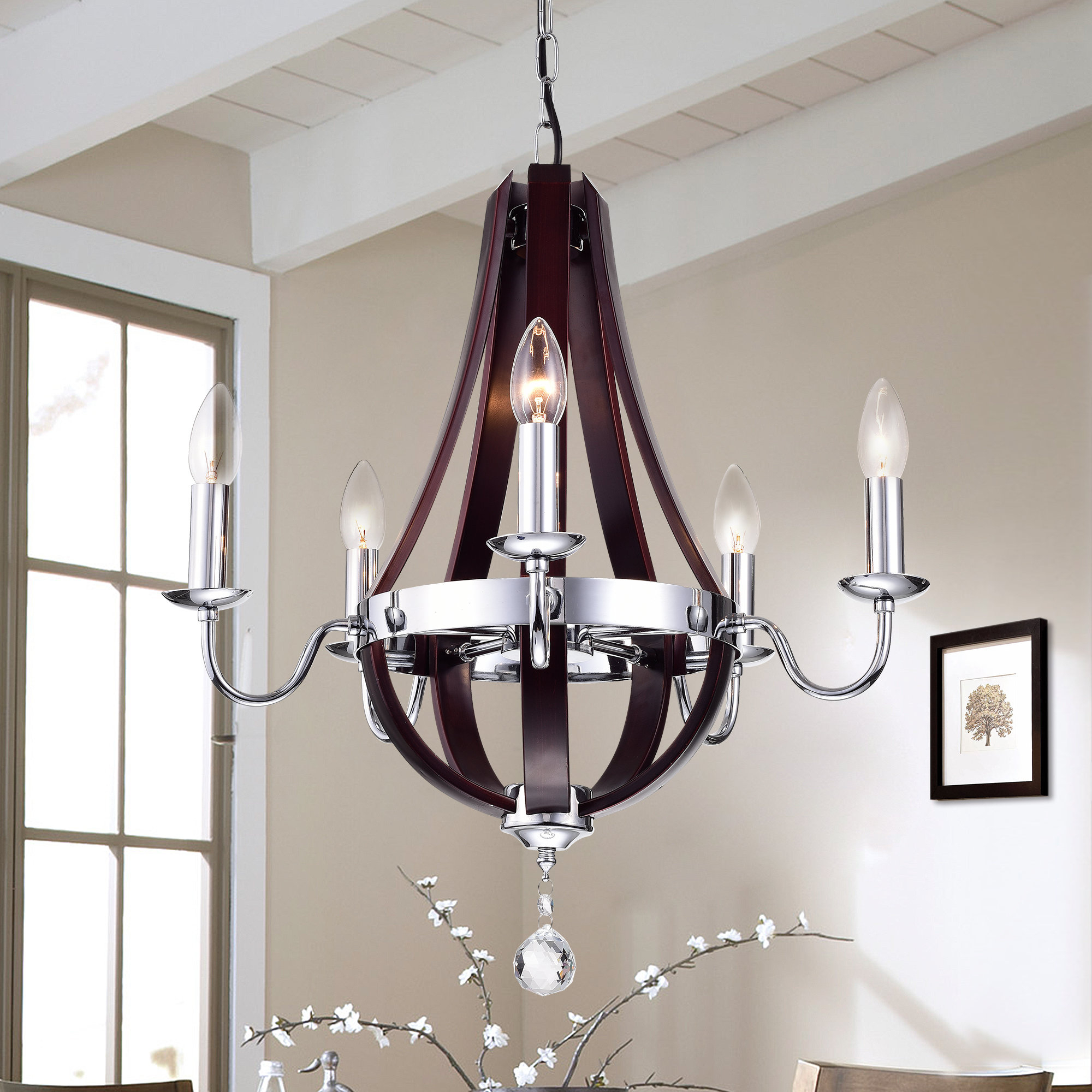 Kyrsten 5 Light Empire Chandelier With Regard To Most Recently Released Kenna 5 Light Empire Chandeliers (View 6 of 25)