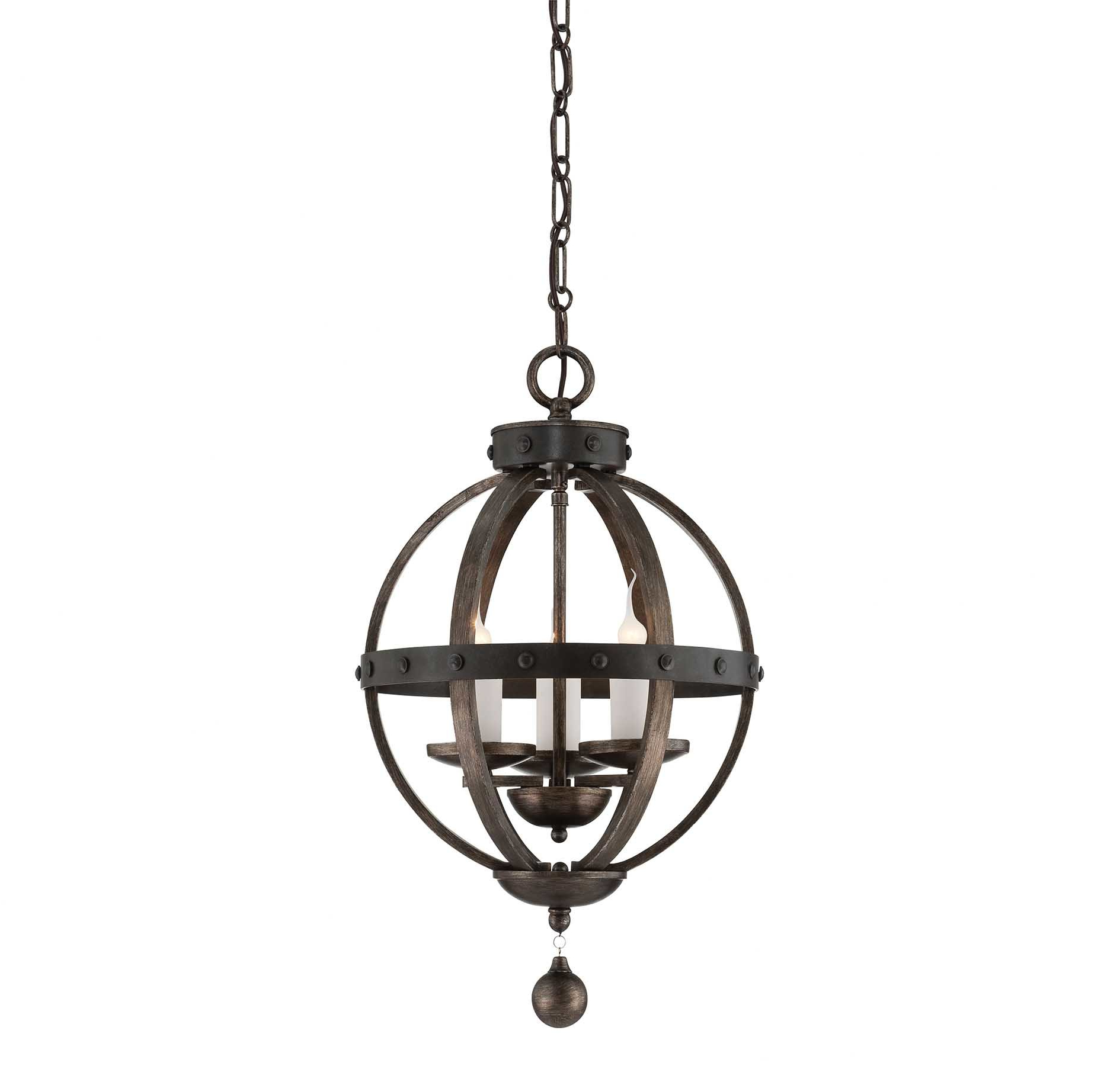 La Barge 3 Light Globe Chandeliers With Regard To Widely Used Wilburton 3 Light Globe Chandelier (View 22 of 25)