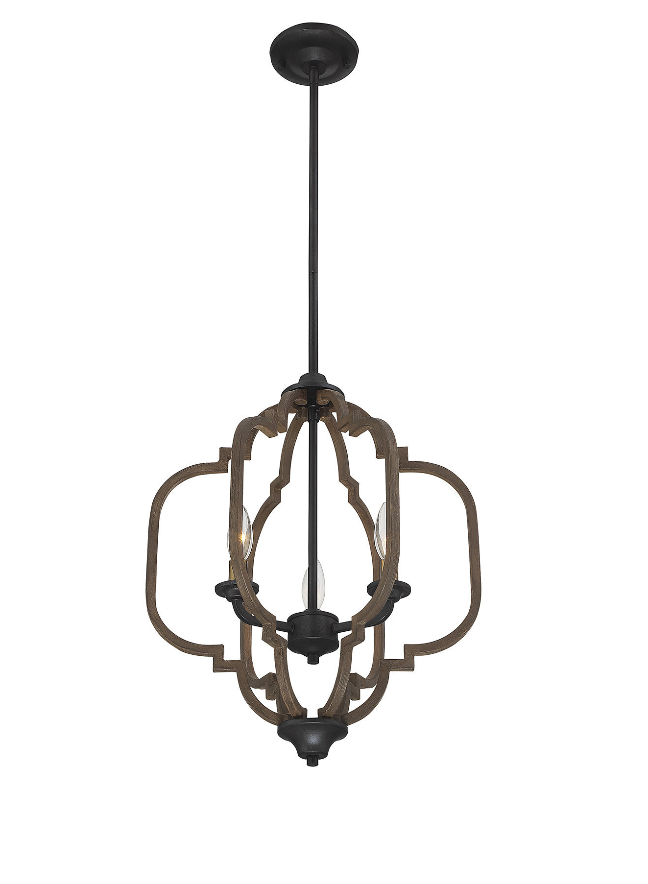 La Sarre 3 Light Globe Chandeliers Intended For Current House Of Hampton Robinette 3 Light Geometric Chandelier (View 23 of 25)