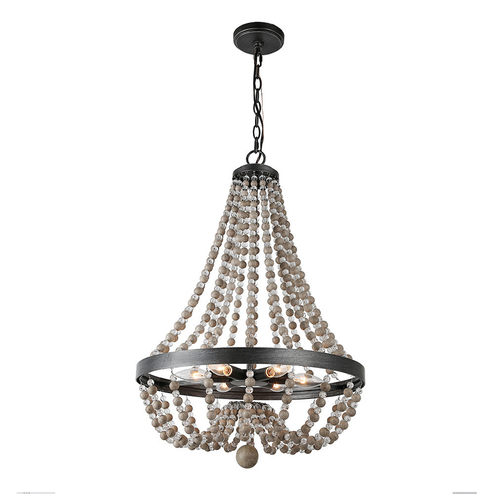 Ladonna 5 Light Novelty Chandeliers Throughout 2019 Bessemer Wood 6 Light Empire Chandelier (View 17 of 25)