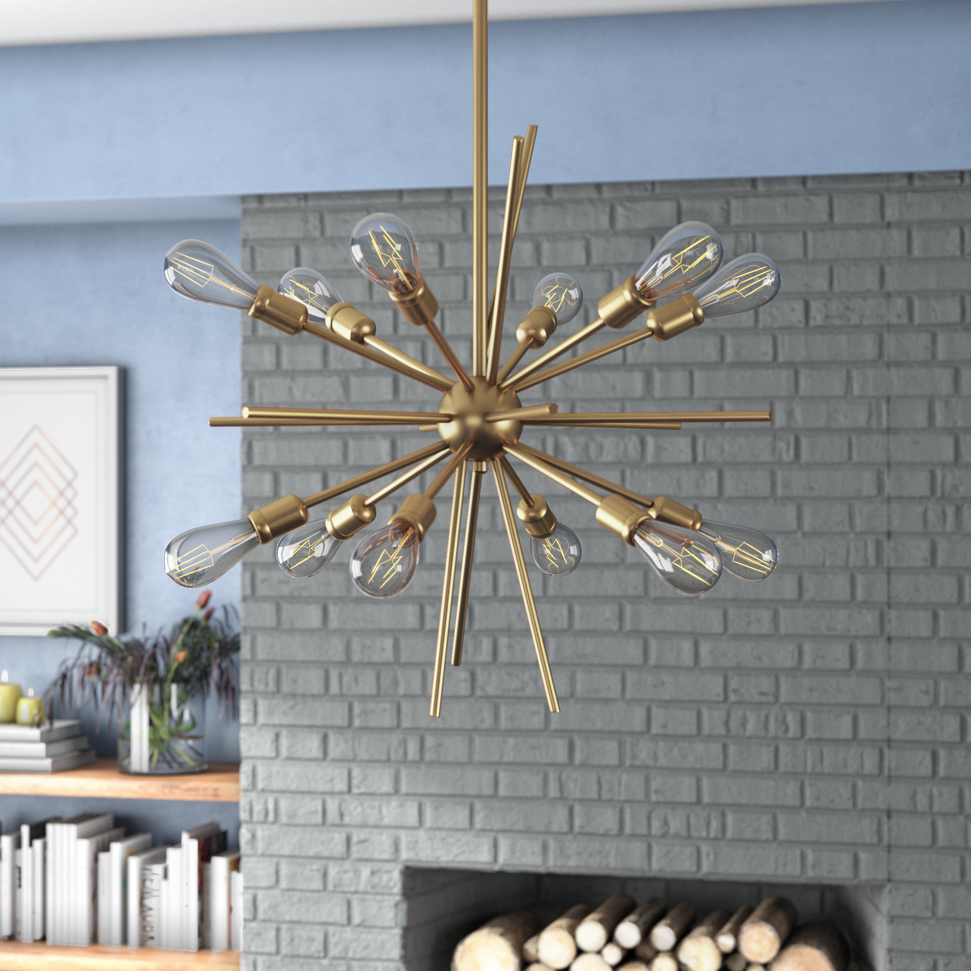 Langley Street Corona 12 Light Sputnik Chandelier & Reviews Pertaining To Well Liked Nelly 12 Light Sputnik Chandeliers (View 9 of 25)