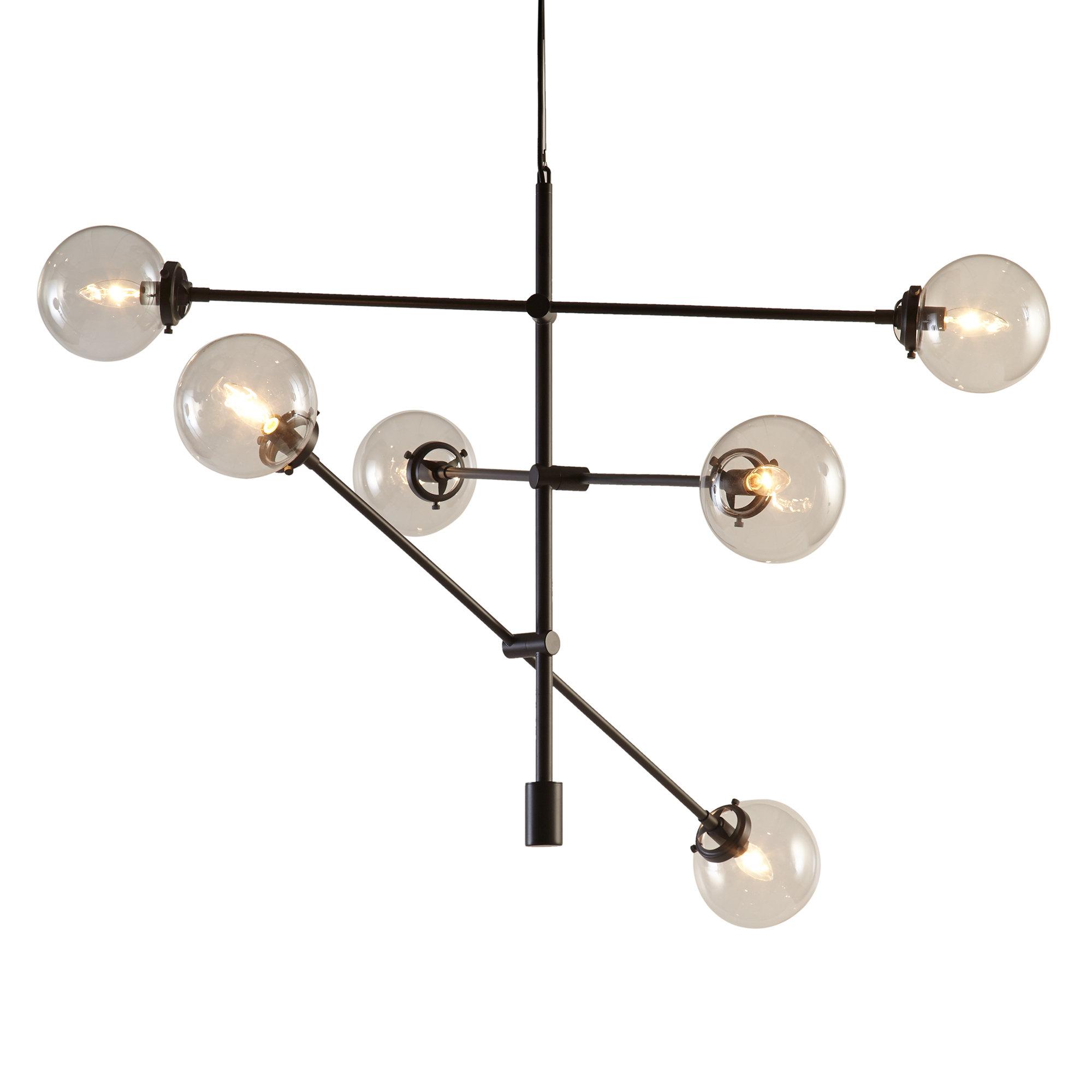 Latest Bailey Antique 6 Light Sputnik Chandelier Intended For Eladia 6 Light Sputnik Chandeliers (View 6 of 25)