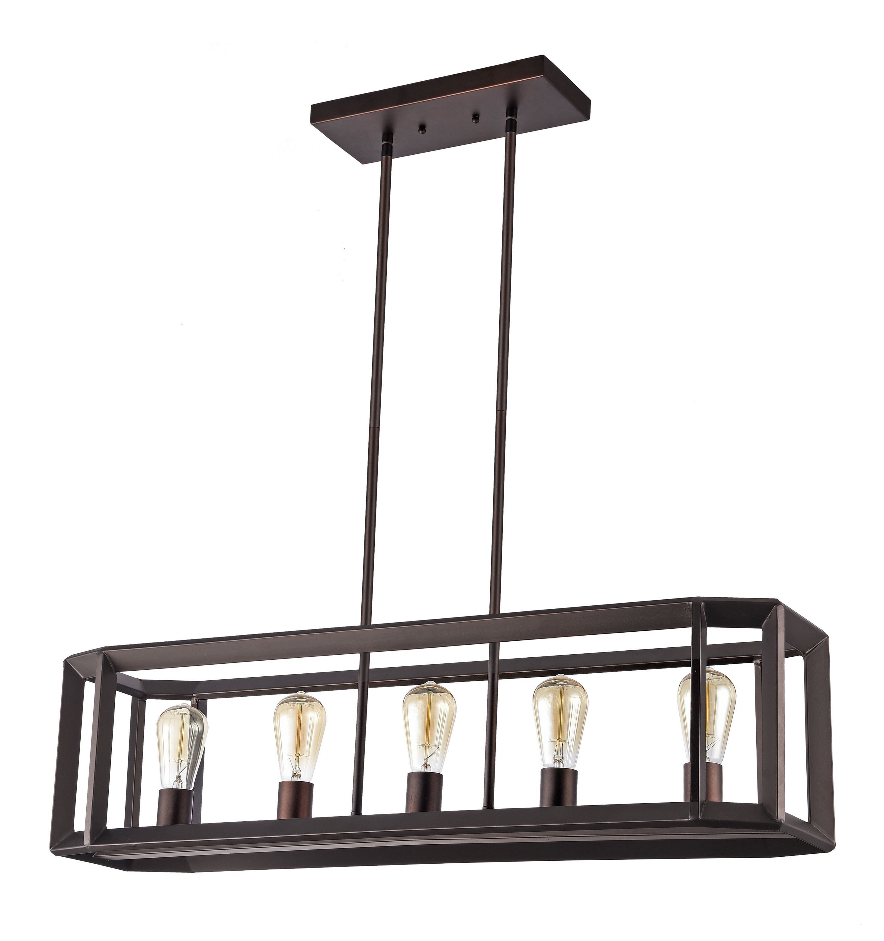 Latest Bouvet 5 Light Kitchen Island Linear Pendant For Euclid 2 Light Kitchen Island Linear Pendants (View 18 of 25)