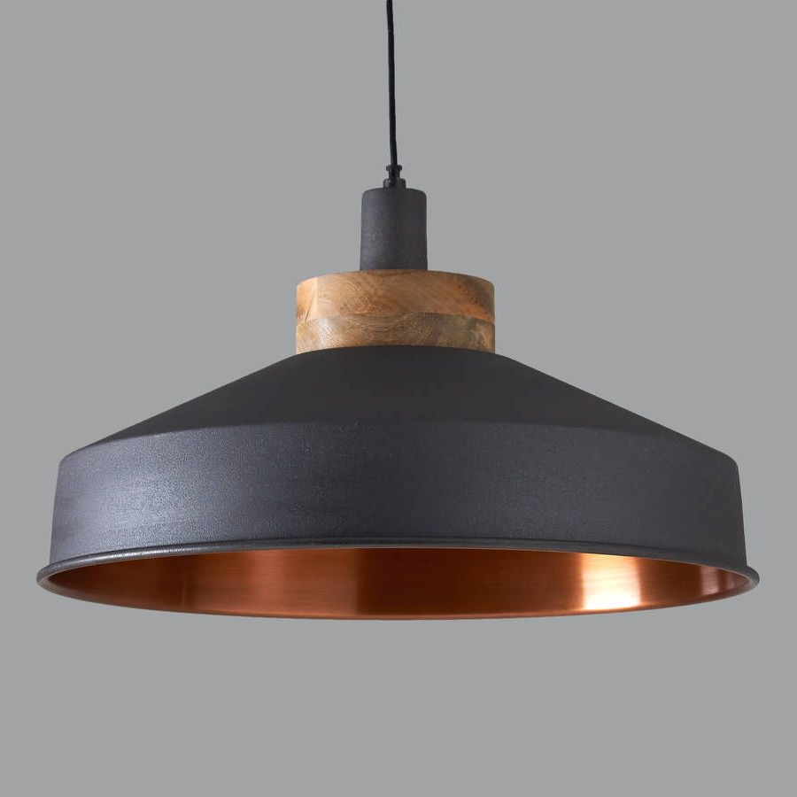 Latest Cosmos Graphite And Copper Pendant Light (View 15 of 25)