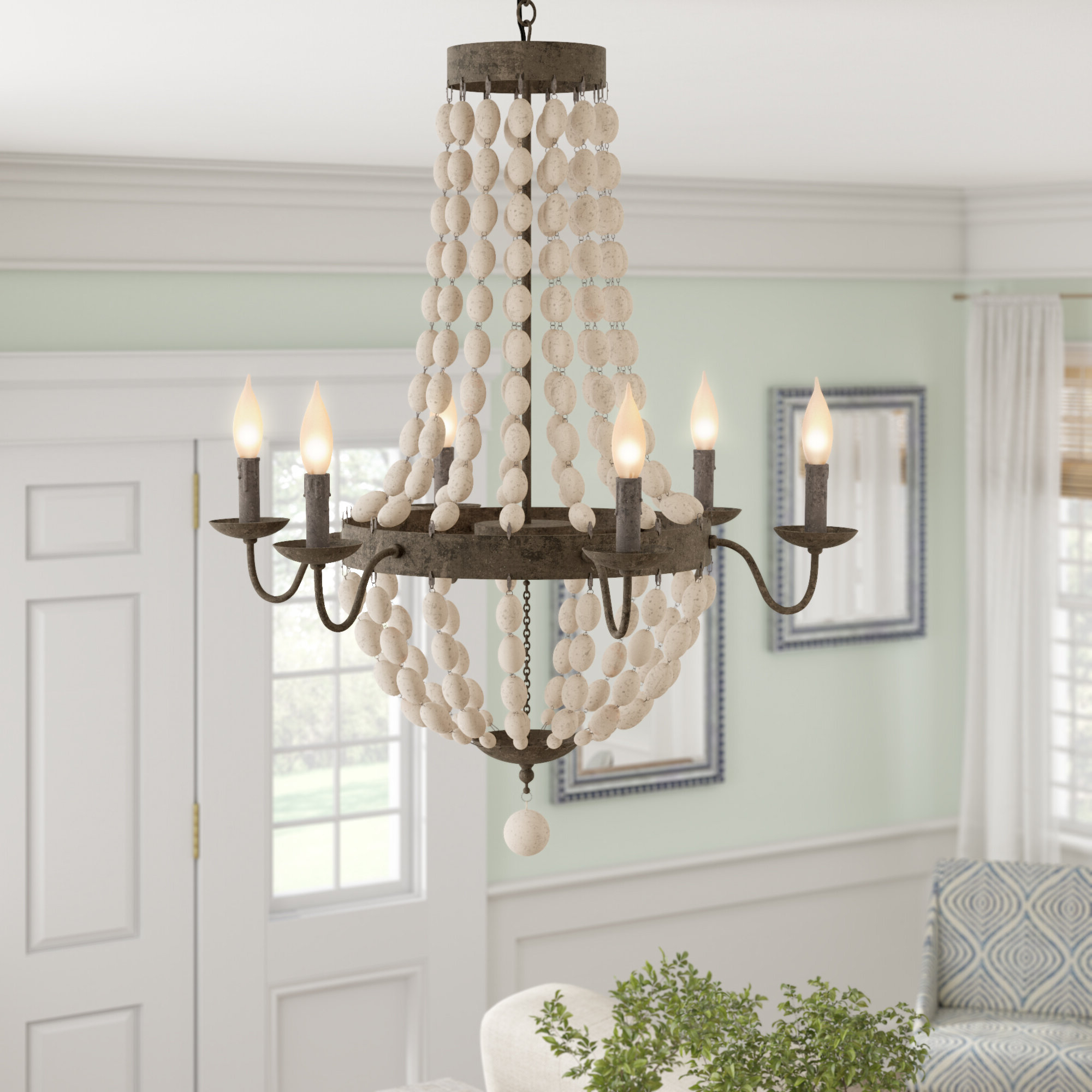 Latest Duron 5 Light Empire Chandeliers In Bargas 6 Light Empire Chandelier (View 6 of 25)