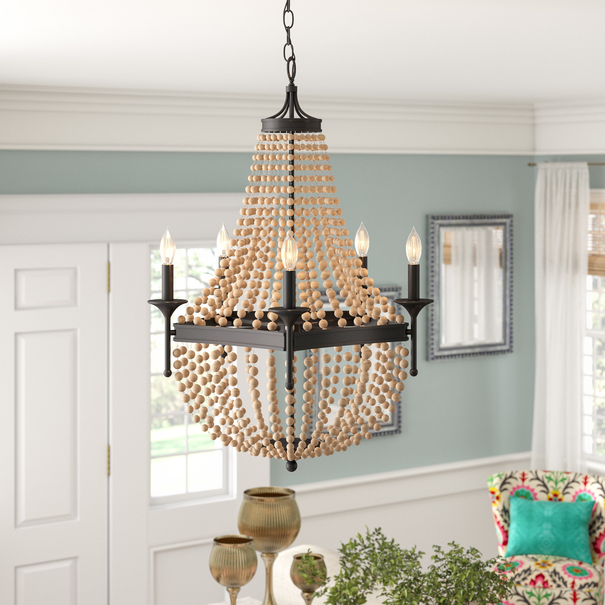 Latest Duron 5 Light Empire Chandeliers Within Moriah 5 Light Empire Chandelier (View 16 of 25)