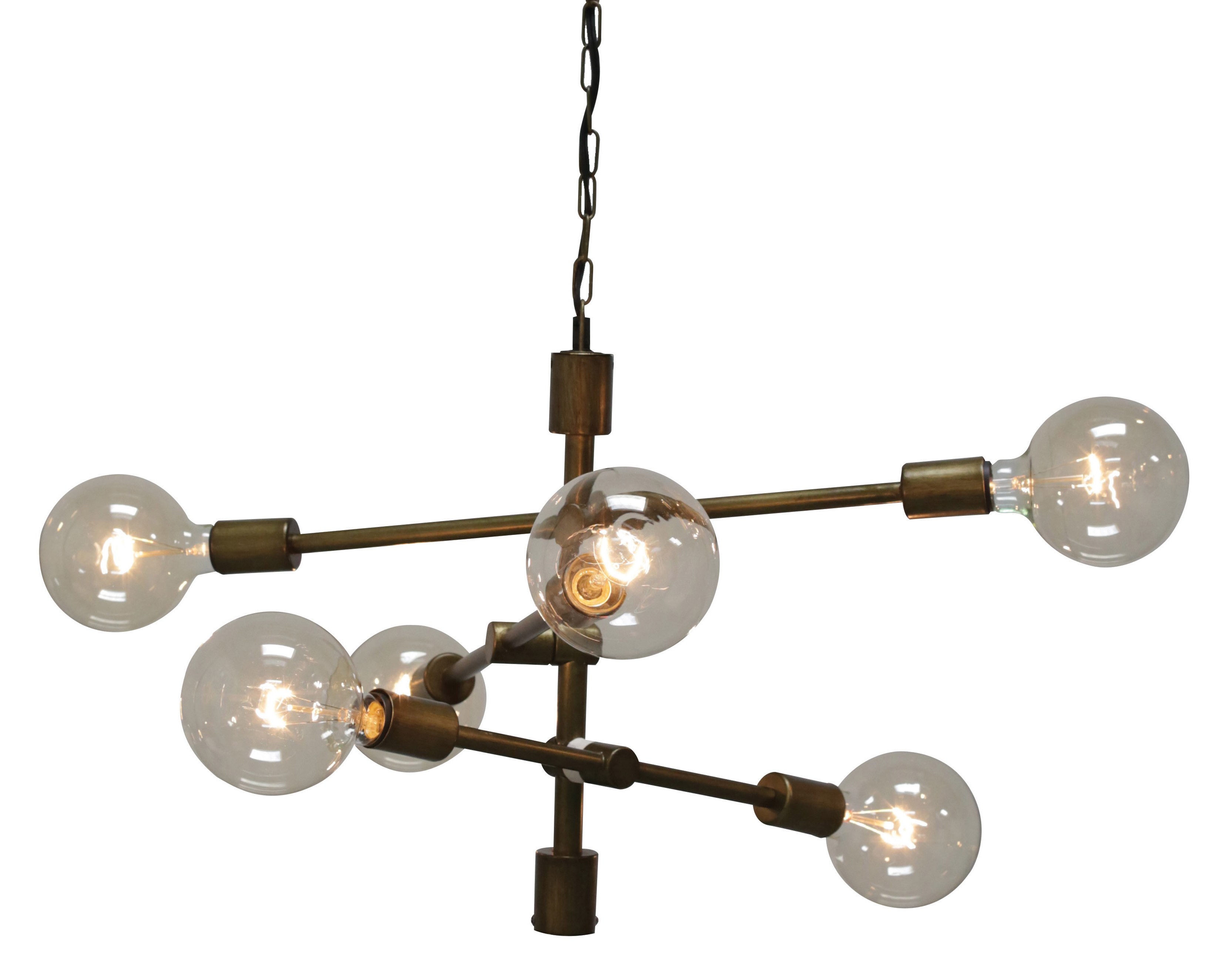 Latest Eladia 6 Light Sputnik Chandeliers Regarding Wunsch 6 Light Sputnik Chandelier (View 14 of 25)