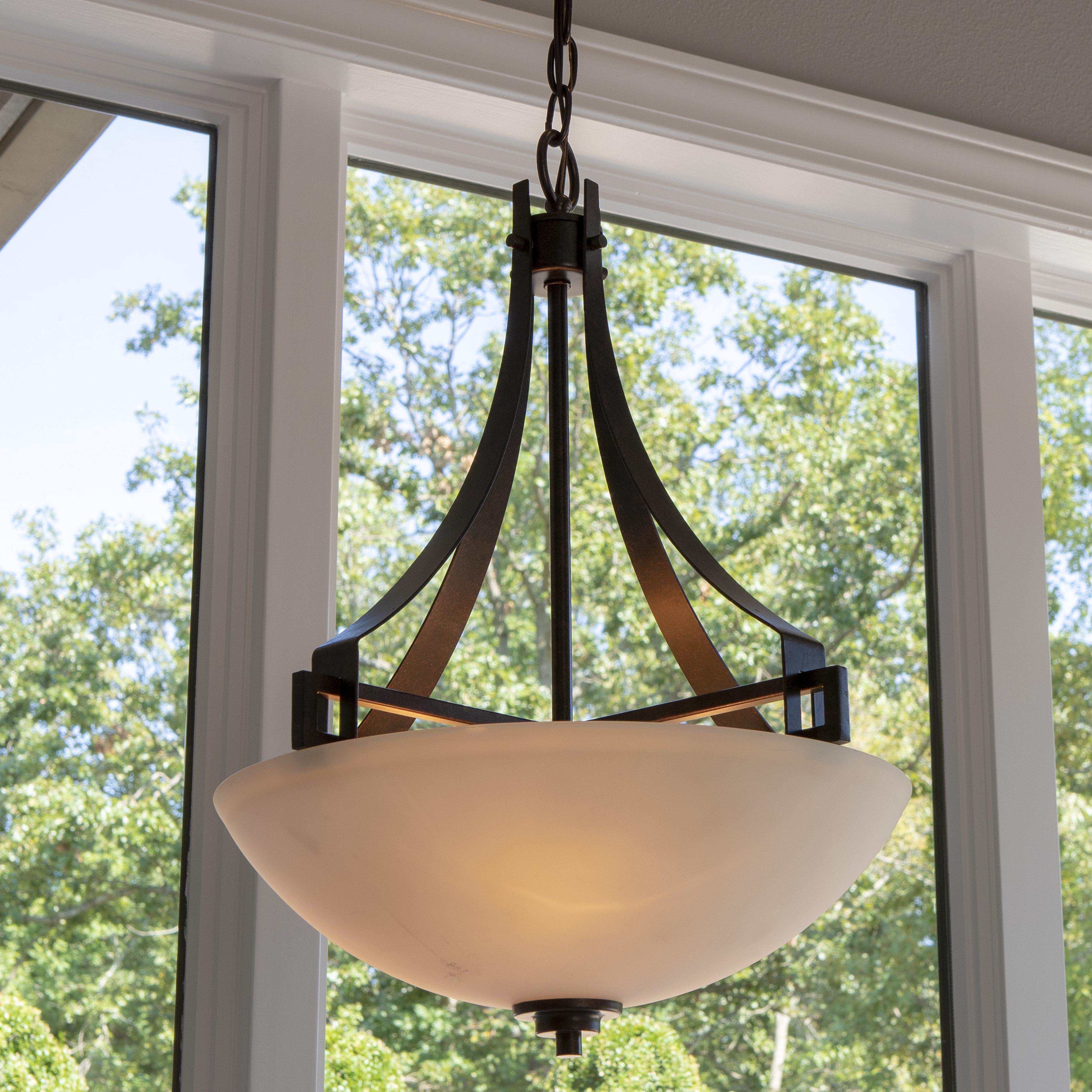 Latest Felica 1 Light Single Bowl Pendant Pertaining To Newent 3 Light Single Bowl Pendants (View 10 of 25)