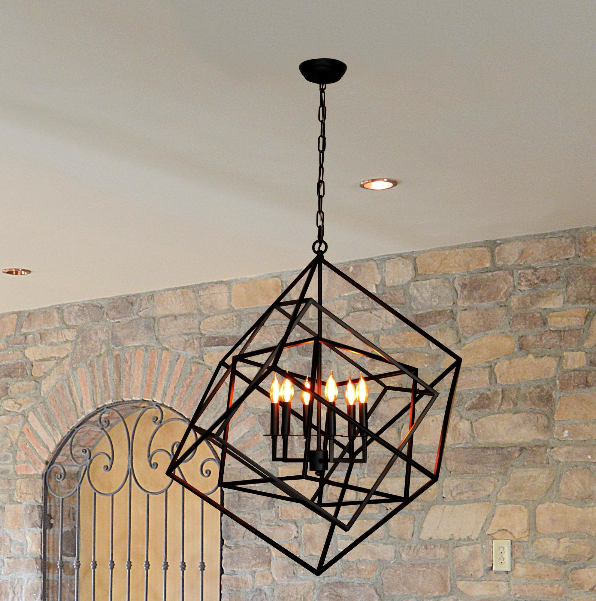 Latest Fredrico 6 Light Geometric Chandelier Pertaining To Eastbourne 6 Light Unique / Statement Chandeliers (View 17 of 25)