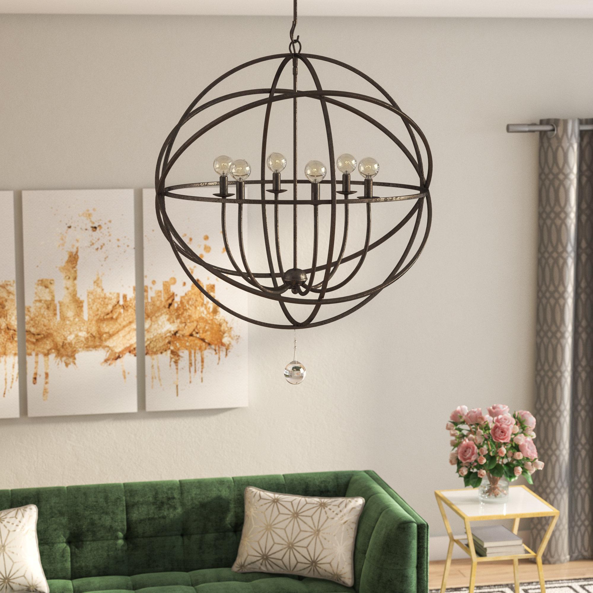 Latest Gregoire 6 Light Globe Chandeliers For Gregoire 6 Light Globe Chandelier (View 17 of 25)
