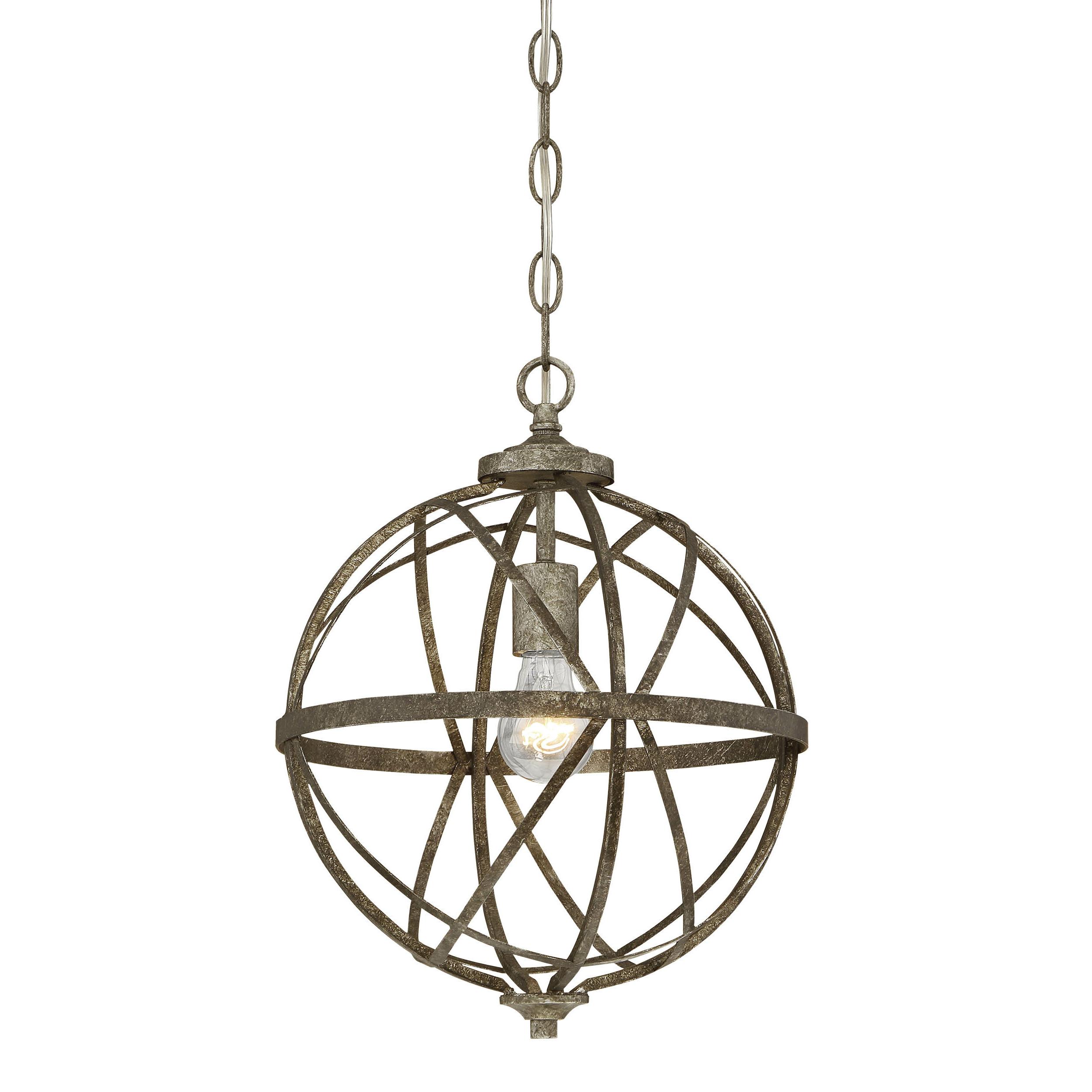 Latest Irwin 1 Light Single Globe Pendants With Regard To World Menagerie Rodden 1 Light Single Globe Pendant (View 9 of 25)