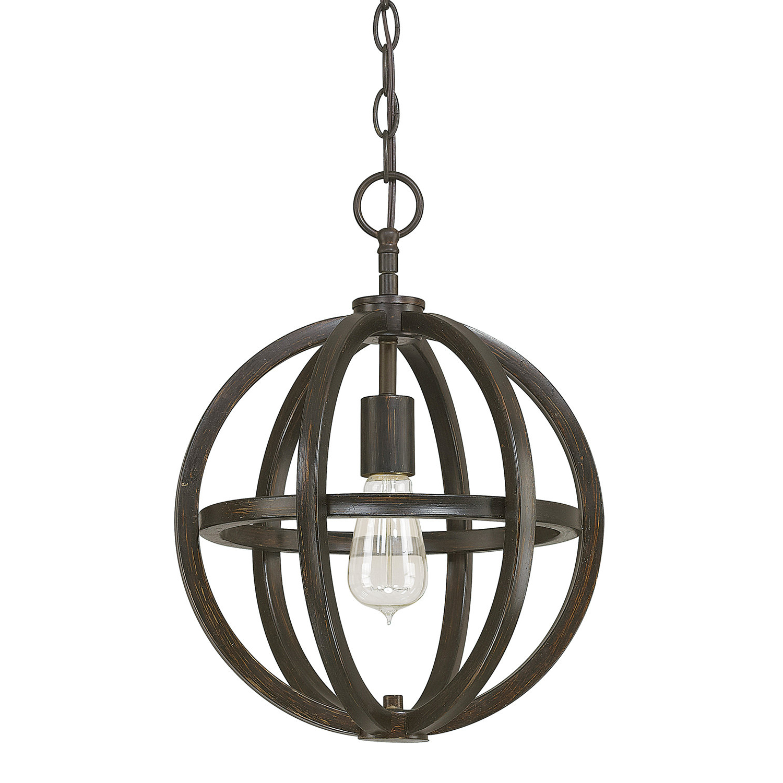 Latest Kilby 1 Light Pendants For Irwin 1 Light Single Globe Pendant (View 6 of 25)