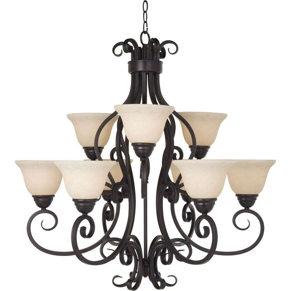 Latest Maxim Lighting Manor 9 Light Oil Rubbed Bronze Chandelier Throughout Kenedy 9 Light Candle Style Chandeliers (View 13 of 25)