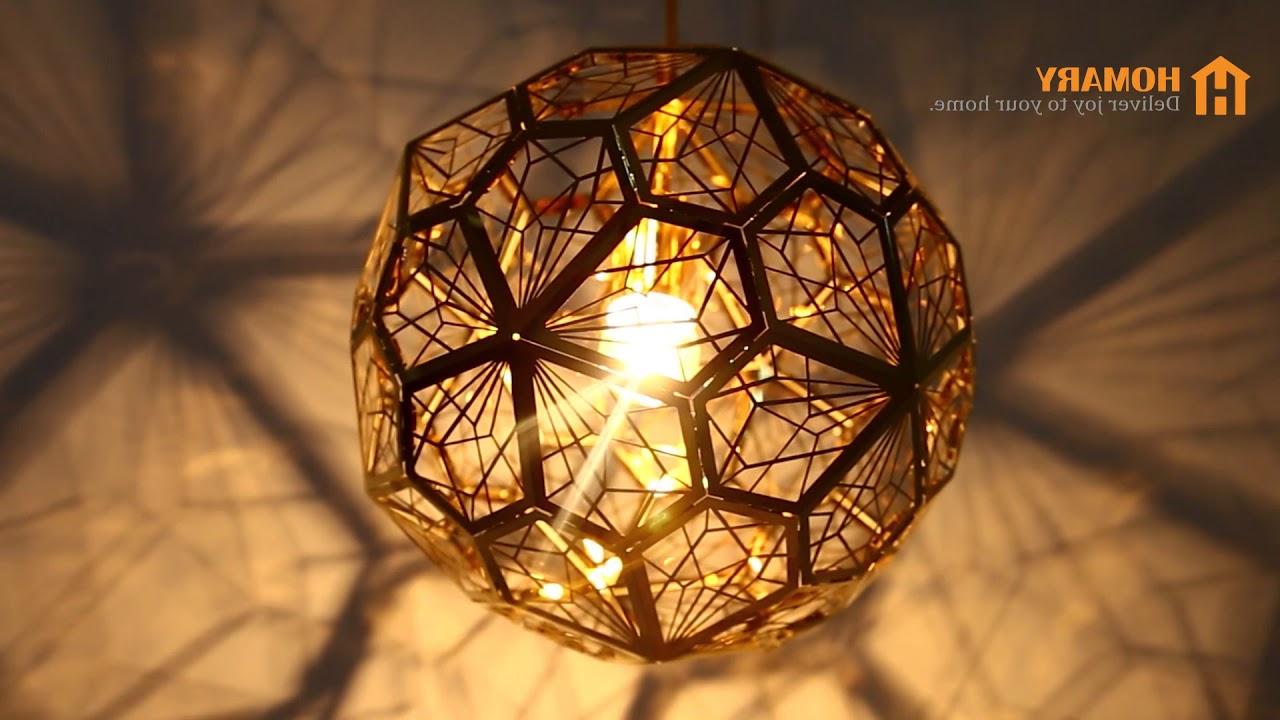 Latest Modern Geometric Hollowed Out Globe 1 Light Pendant Light Review Inside 1 Light Geometric Globe Pendants (View 18 of 25)