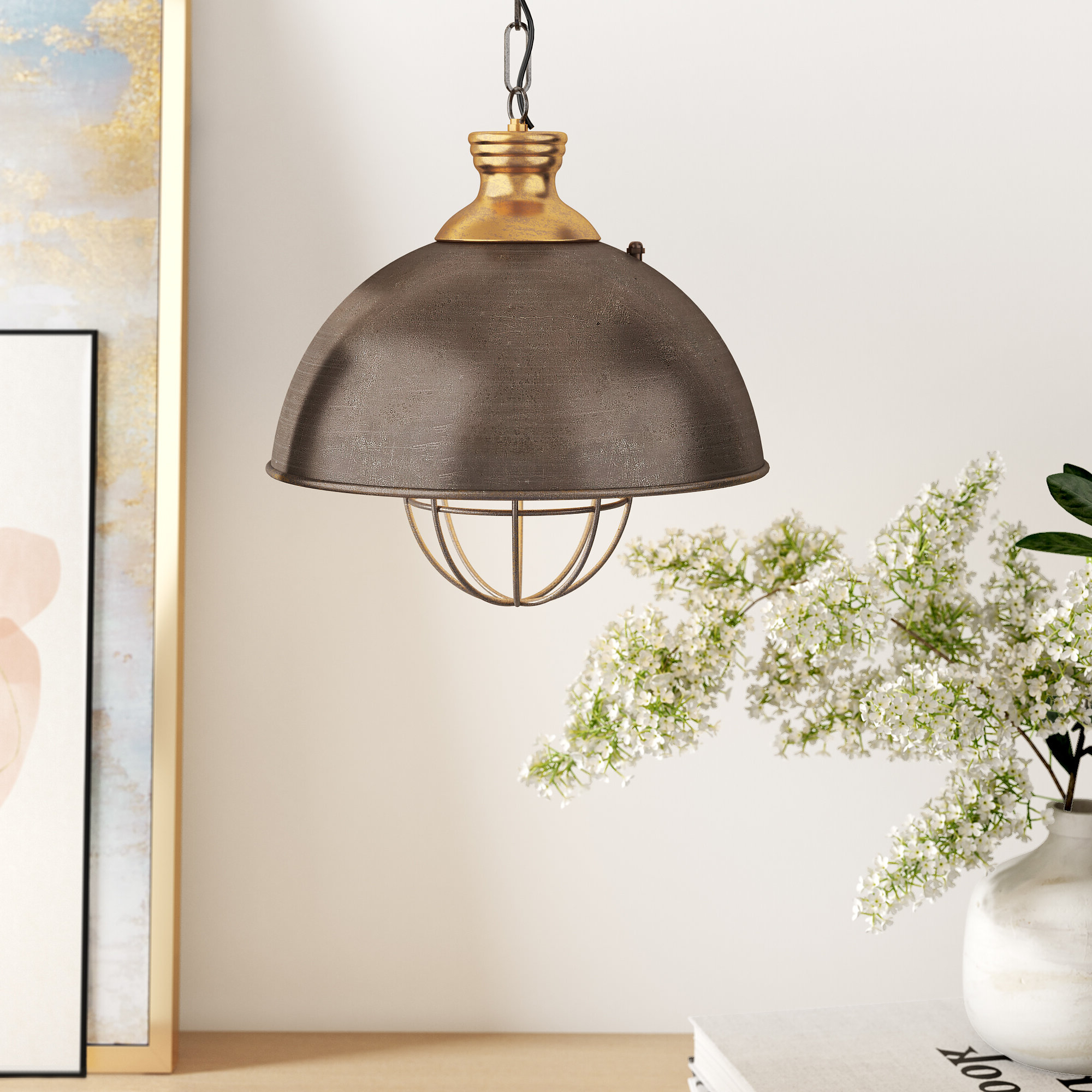 Latest Olathe 1 Light Single Dome Pendant & Reviews (View 14 of 25)