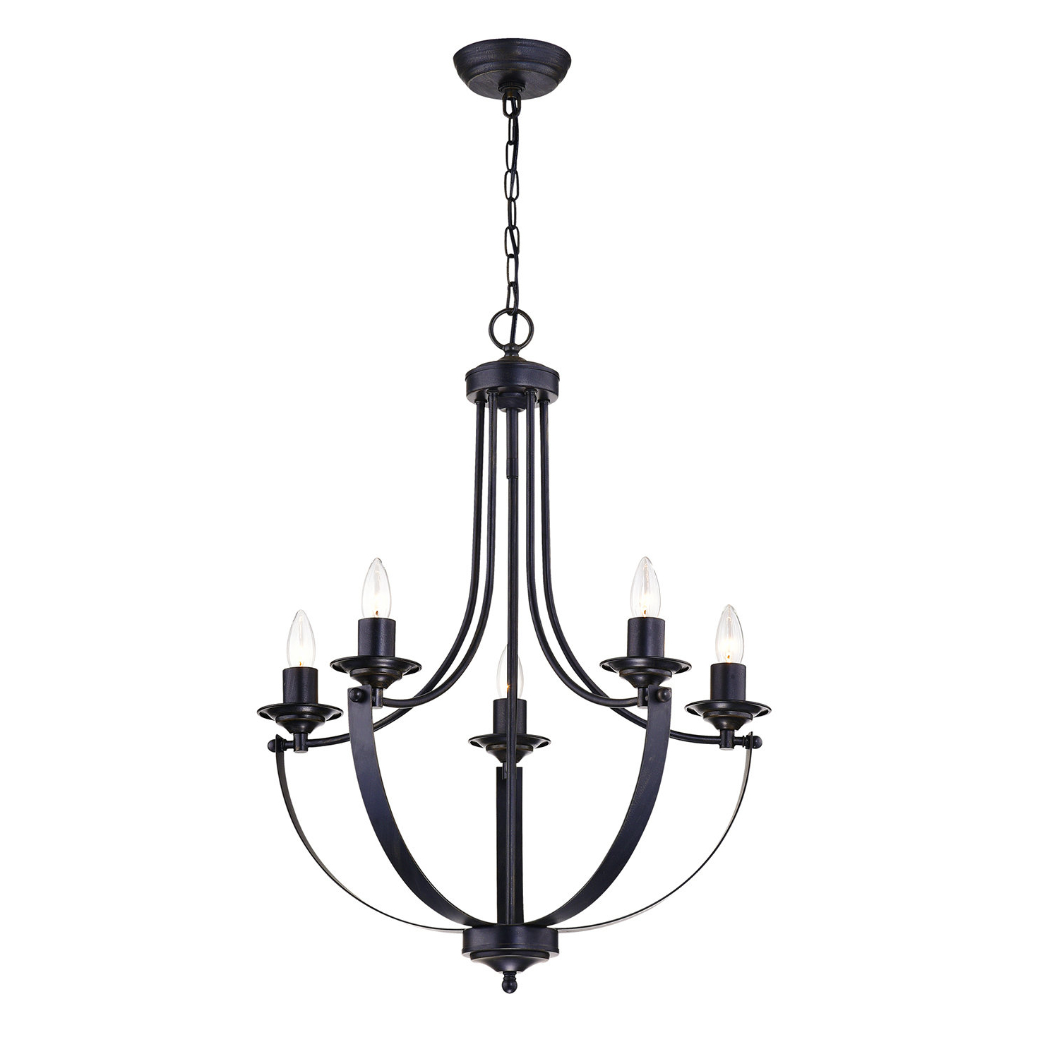 Latest Shaylee 5 Light Candle Style Chandeliers For Gracie Oaks Kendal 5 Light Candle Style Chandelier & Reviews (View 19 of 25)