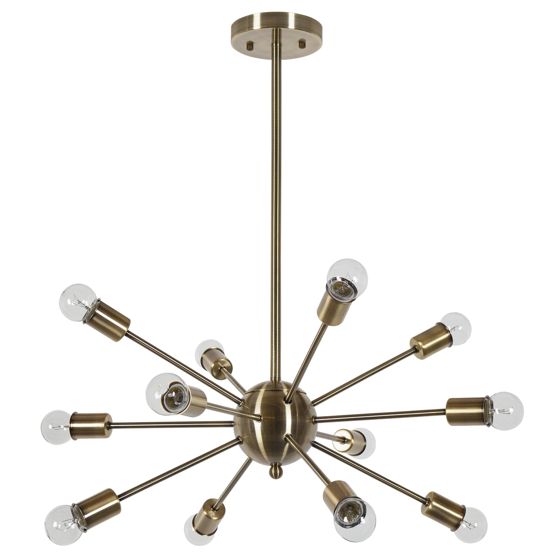 Latest Vroman 12 Light Sputnik Chandeliers Regarding Vroman 12 Light Sputnik Chandelier (View 2 of 25)