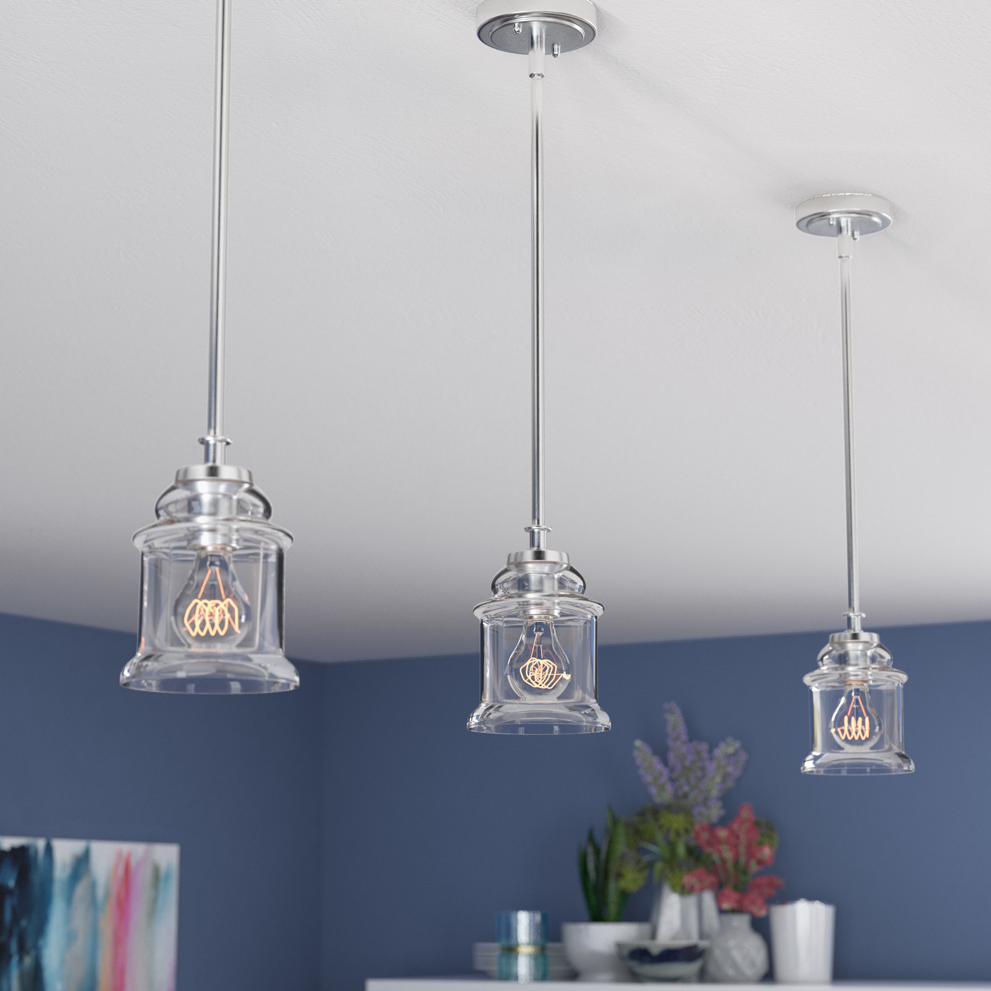 Latest Yarger 1 Light Single Bell Pendants Within Beachcrest Home Rachel 1 Light Bell Pendant & Reviews (View 13 of 25)