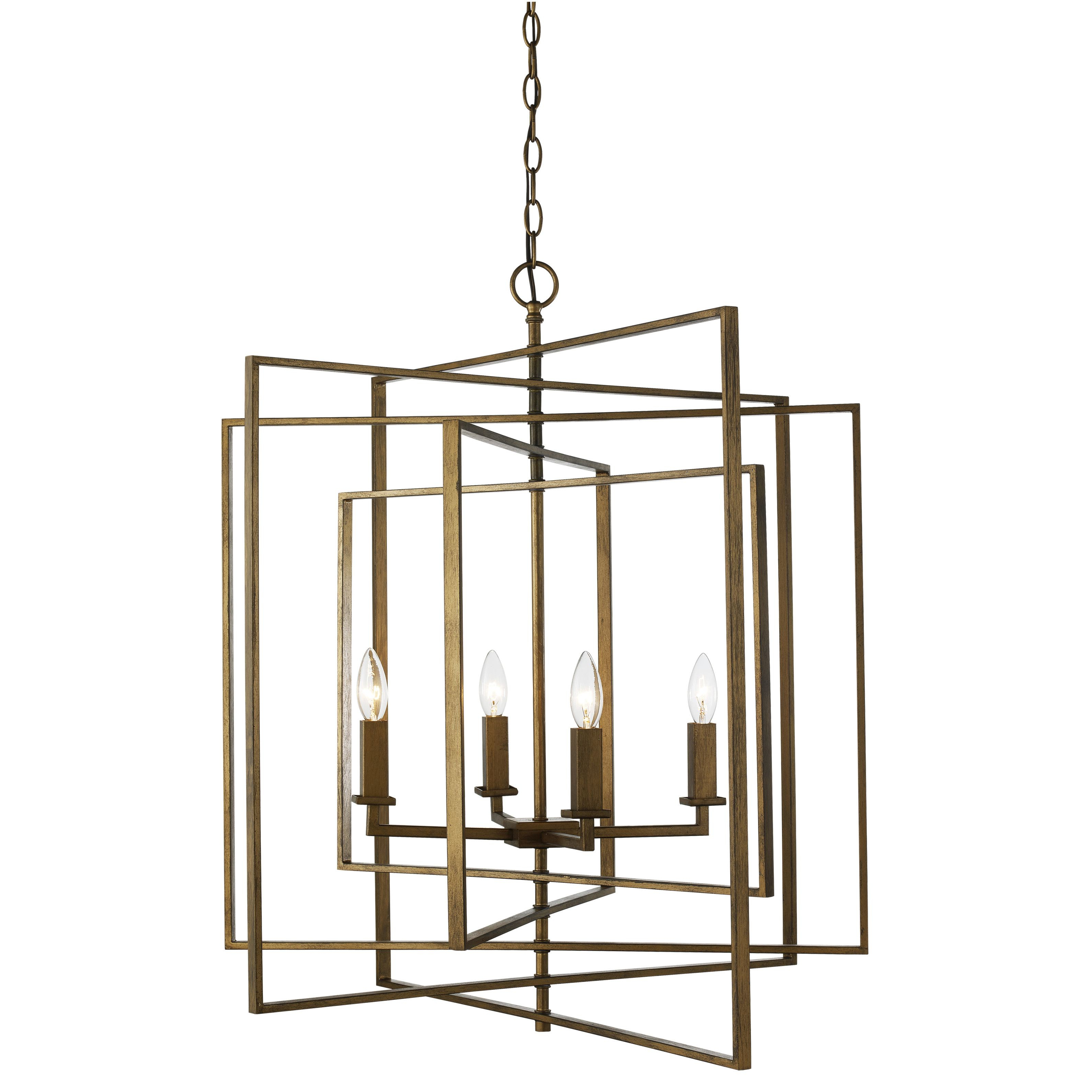 Latest Yarnell 4 Light Square/rectangle Chandelier (View 14 of 25)