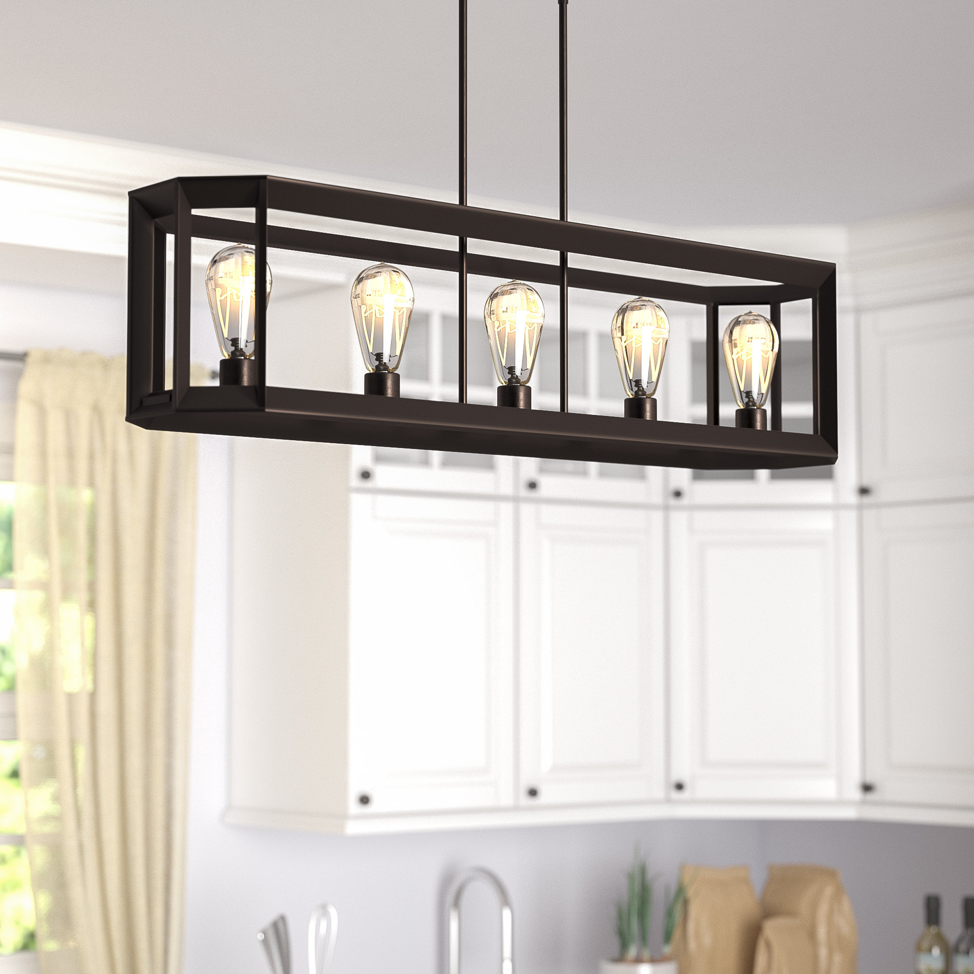 Laurel Foundry Modern Farmhouse Bouvet 5 Light Kitchen For 2019 Hinerman 5 Light Kitchen Island Pendants (View 10 of 25)