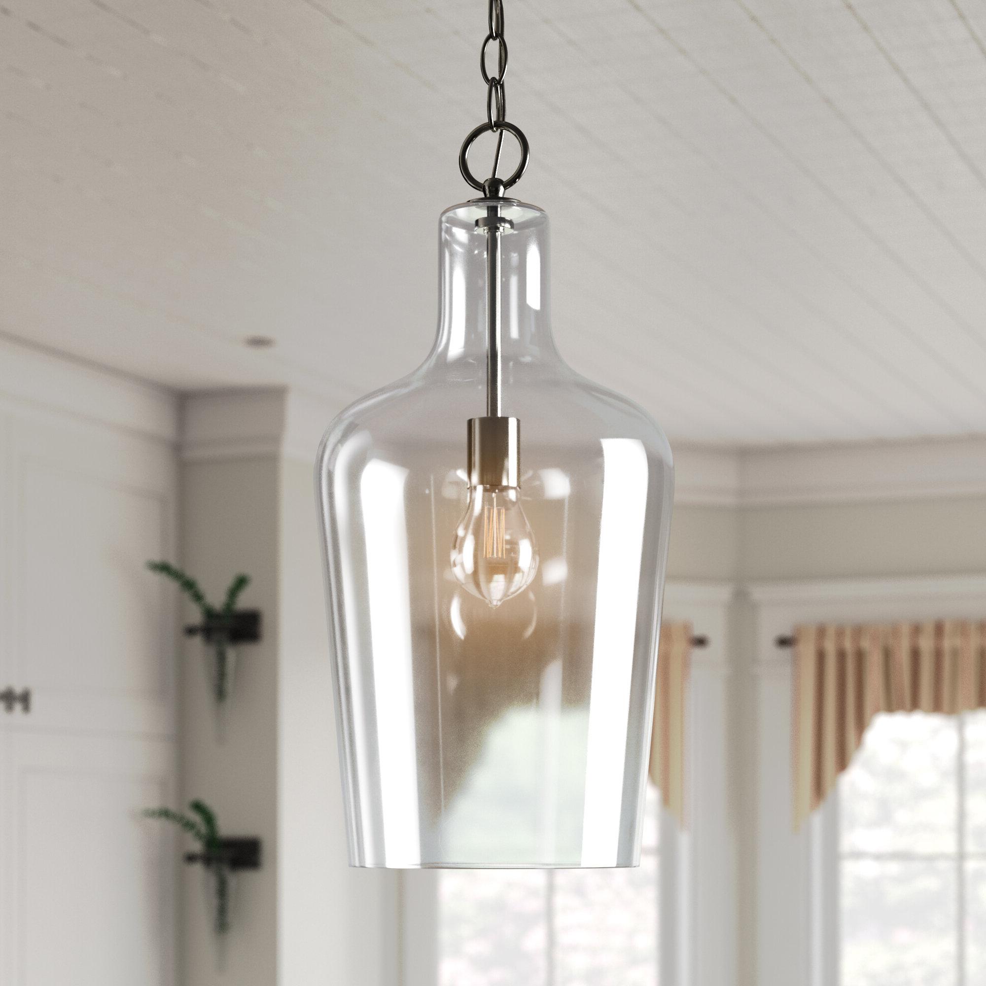 Laurel Foundry Modern Farmhouse Carey 1 Light Single Bell Pendant Regarding Most Current Carey 1 Light Single Bell Pendants (View 15 of 25)