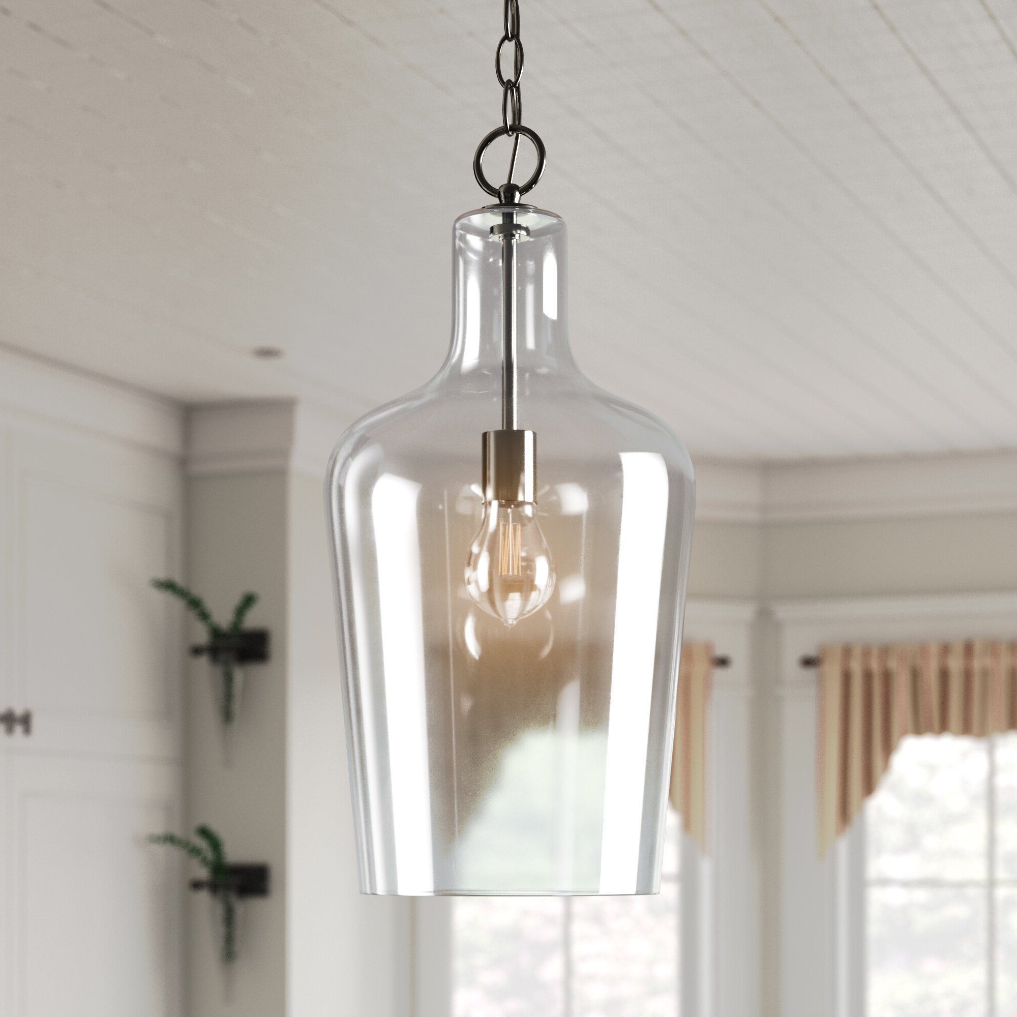 Laurel Foundry Modern Farmhouse Carey 1 Light Single Bell Pendant Regarding Well Liked Clematite 1 Light Single Jar Pendants (View 20 of 25)