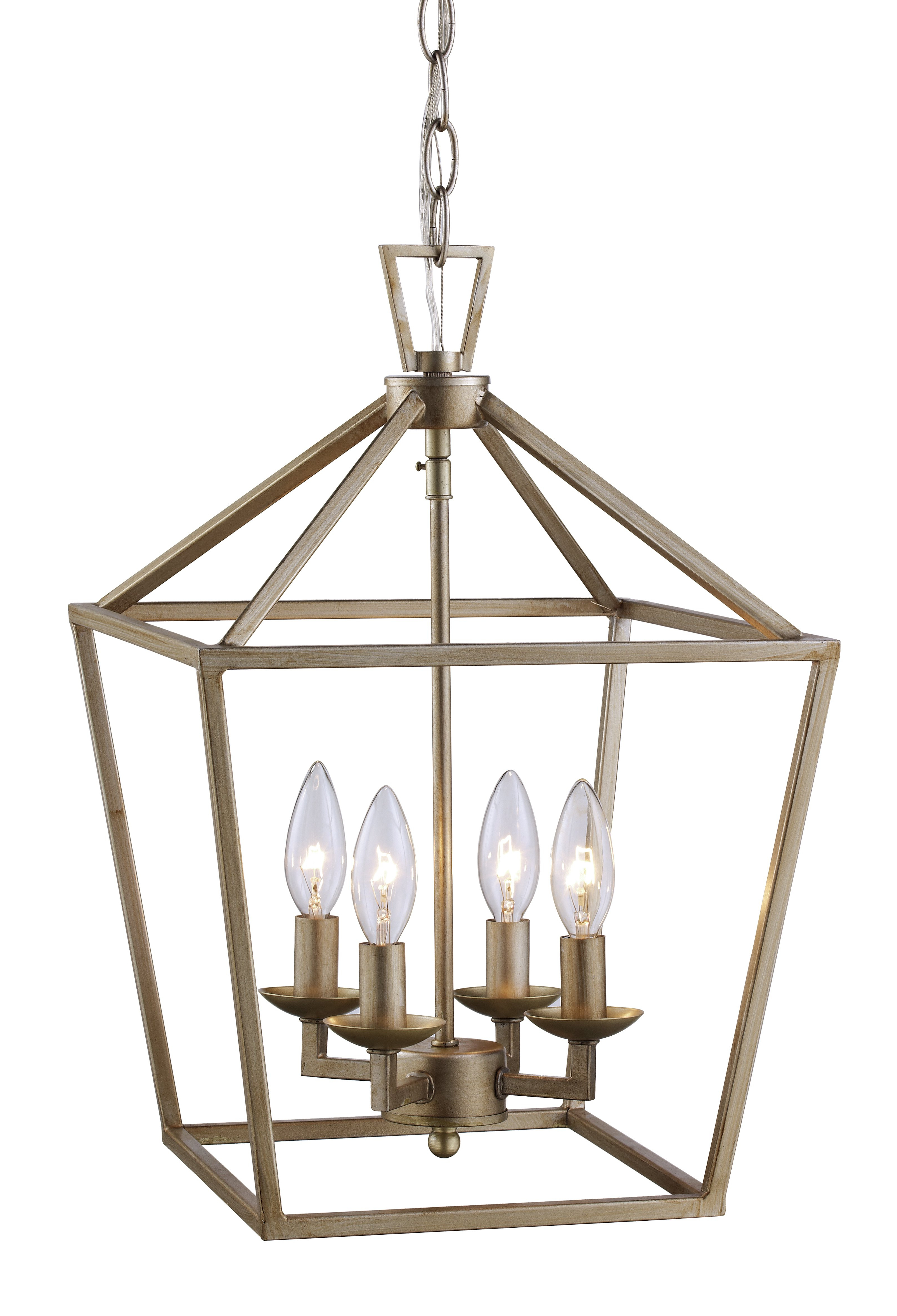 Laurel Foundry Modern Farmhouse Carmen 4 Light Lantern Geometric Pendant Regarding Best And Newest Louanne 1 Light Lantern Geometric Pendants (View 15 of 25)