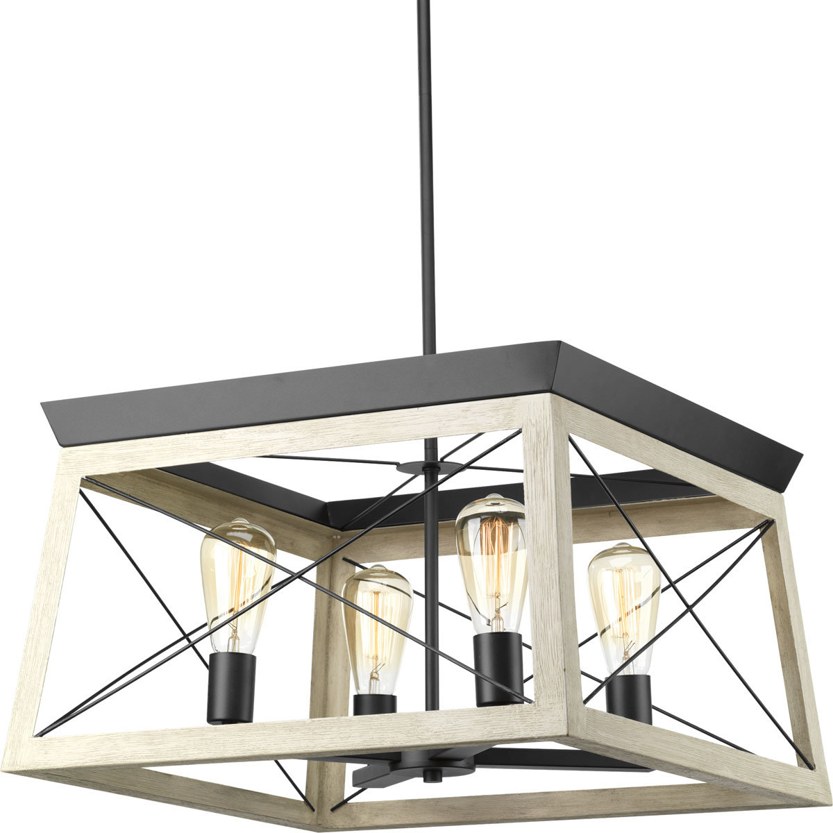 Laurel Foundry Modern Farmhouse Delon 4 Light Square Within Well Known Delon 4 Light Square Chandeliers (View 11 of 25)